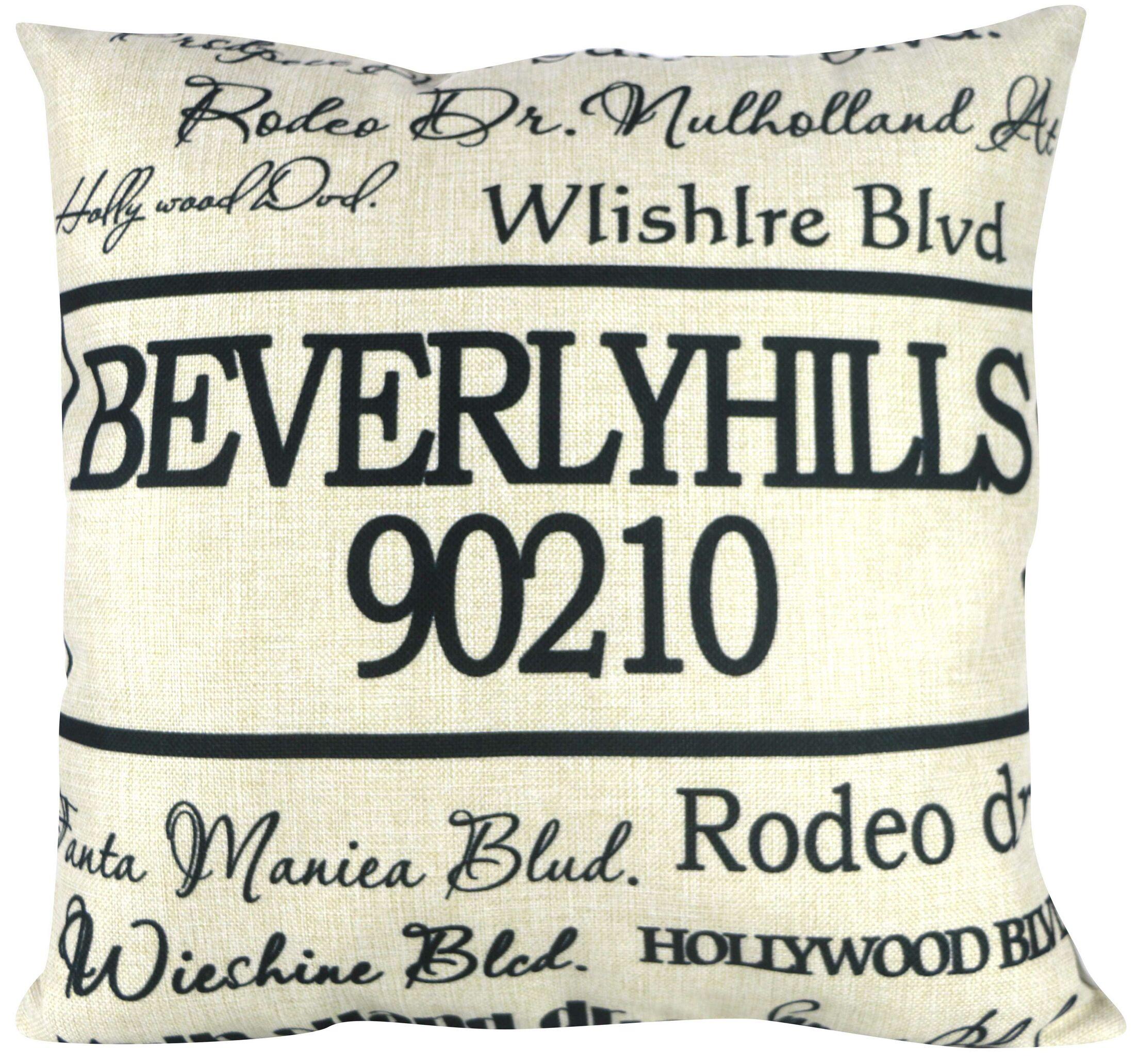 90210 Beverly Hills Throw Pillow