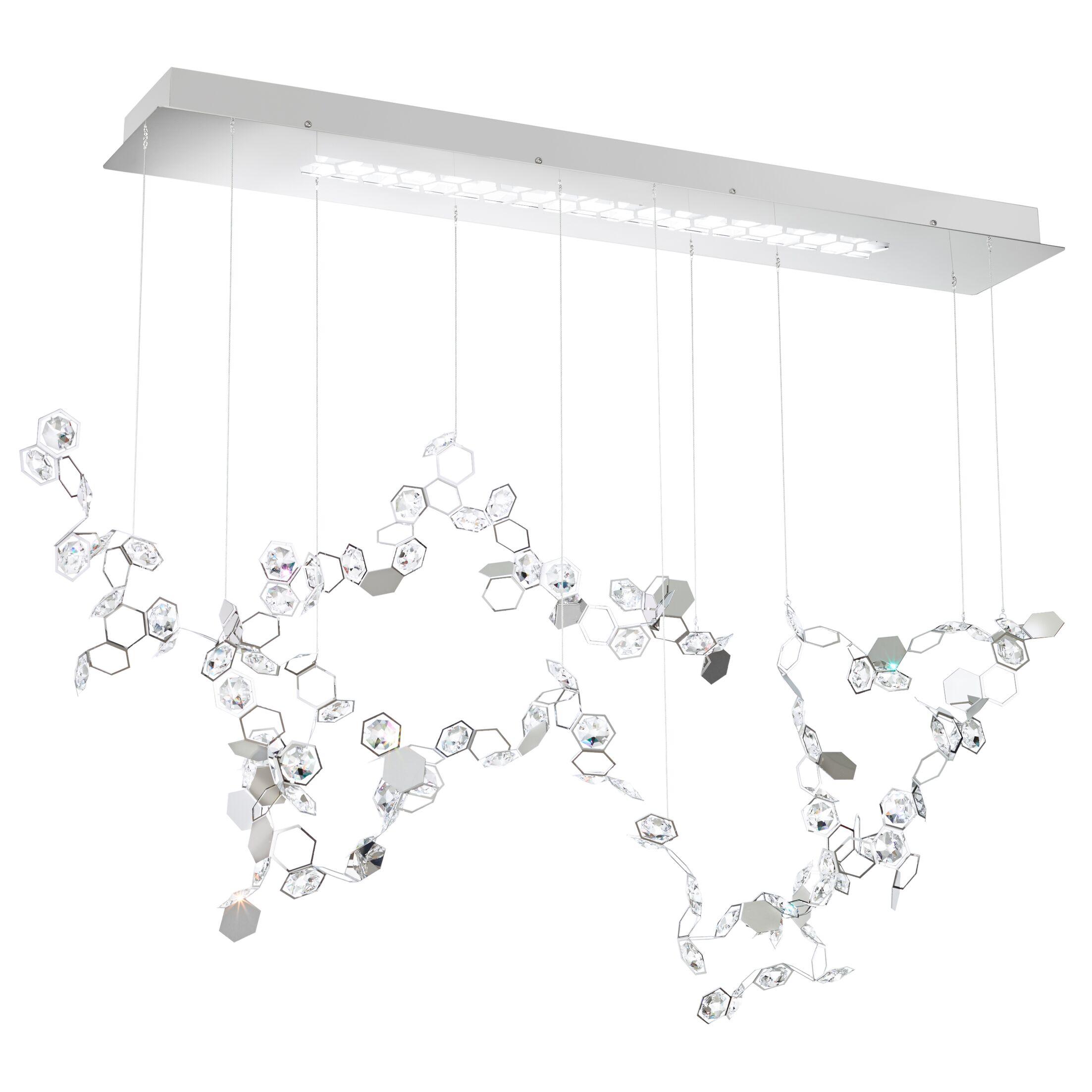 Crystalon 3-Light LED Cluster Pendant Crystal: Clear