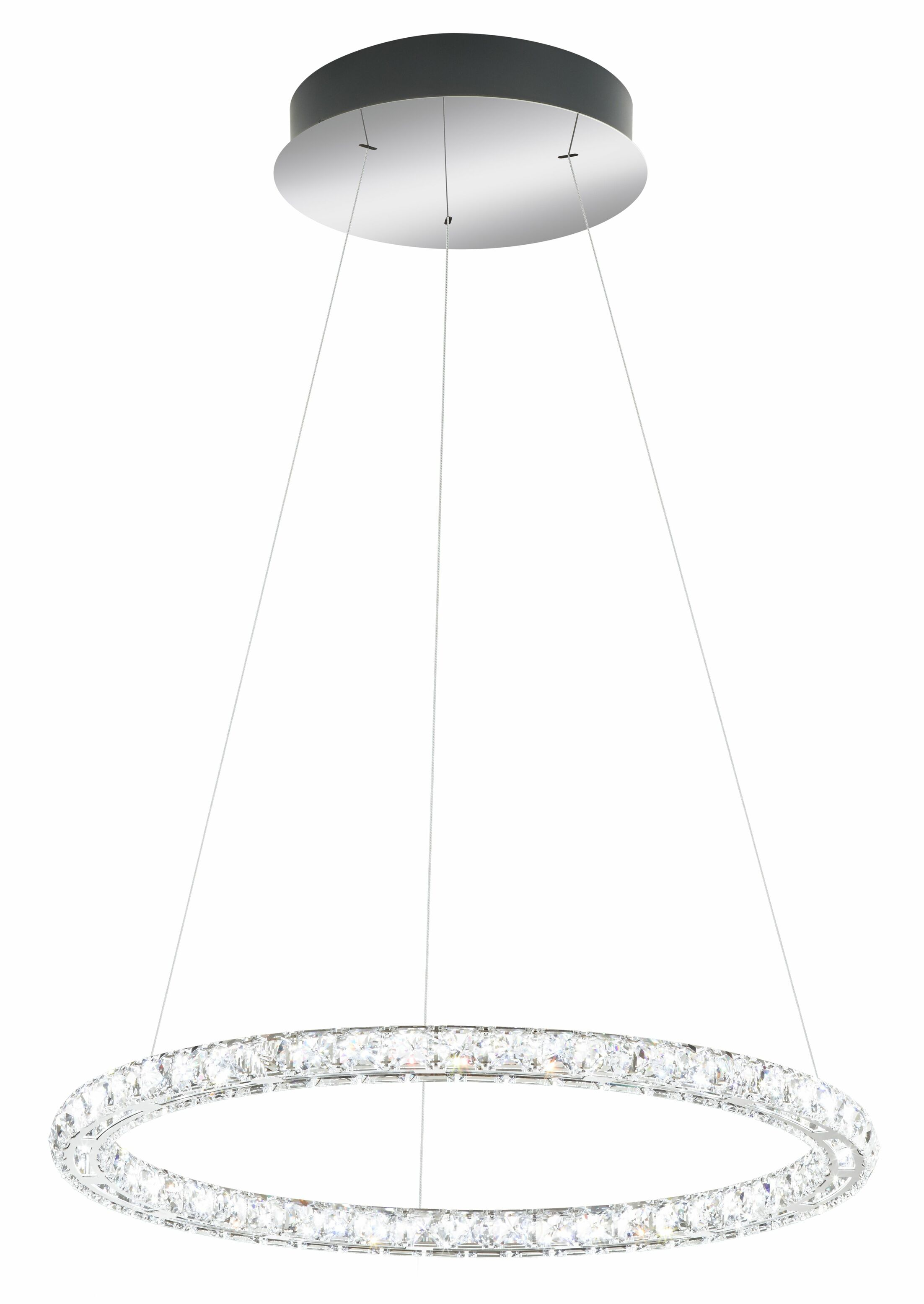 Circle 15-Light LED Crystal Chandelier Color Temperature: 4000K