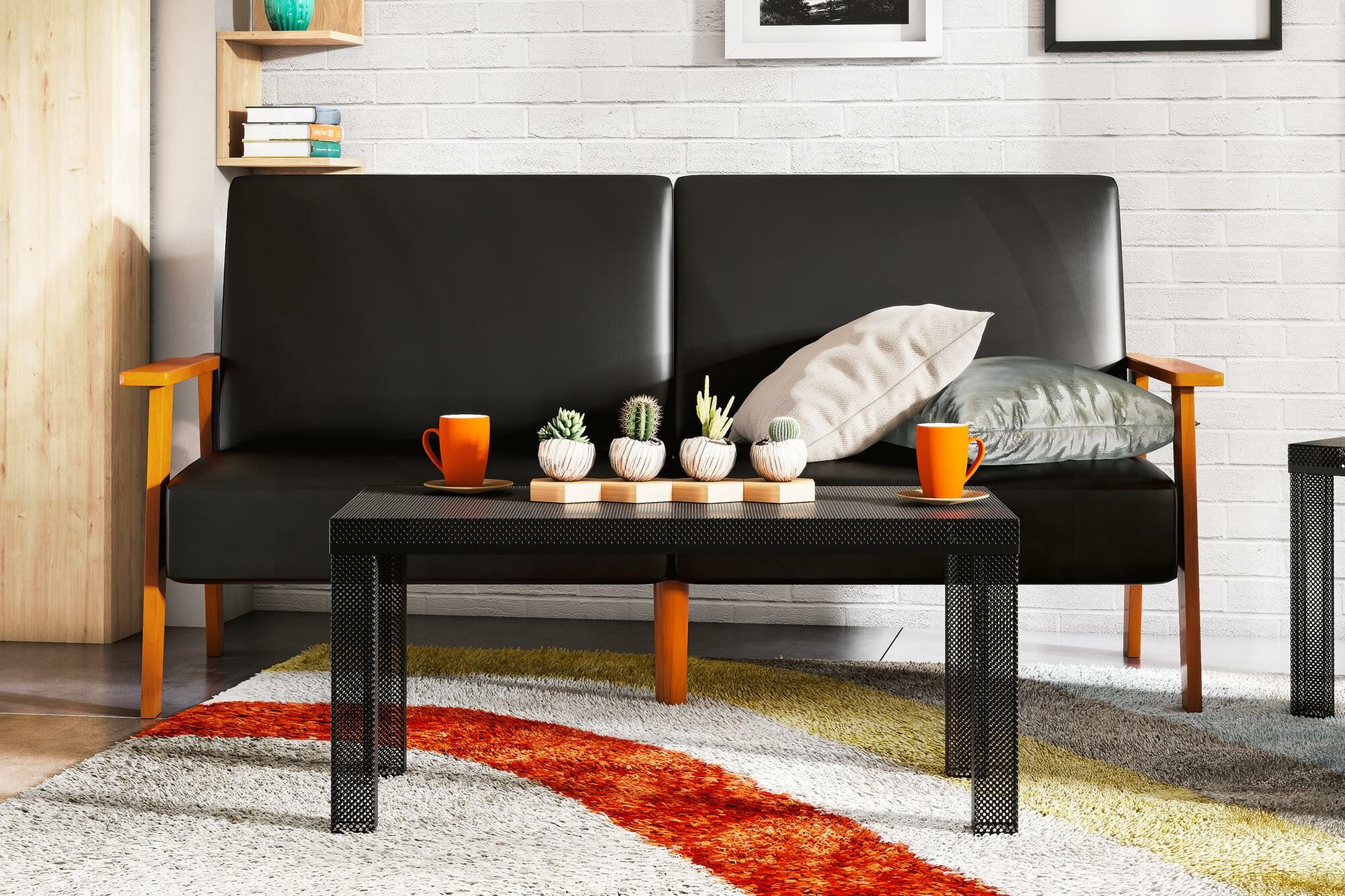 Iconic Coffee Table Color: Black