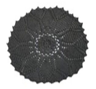 Charcoal Area Rug Rug Size: Round 6'