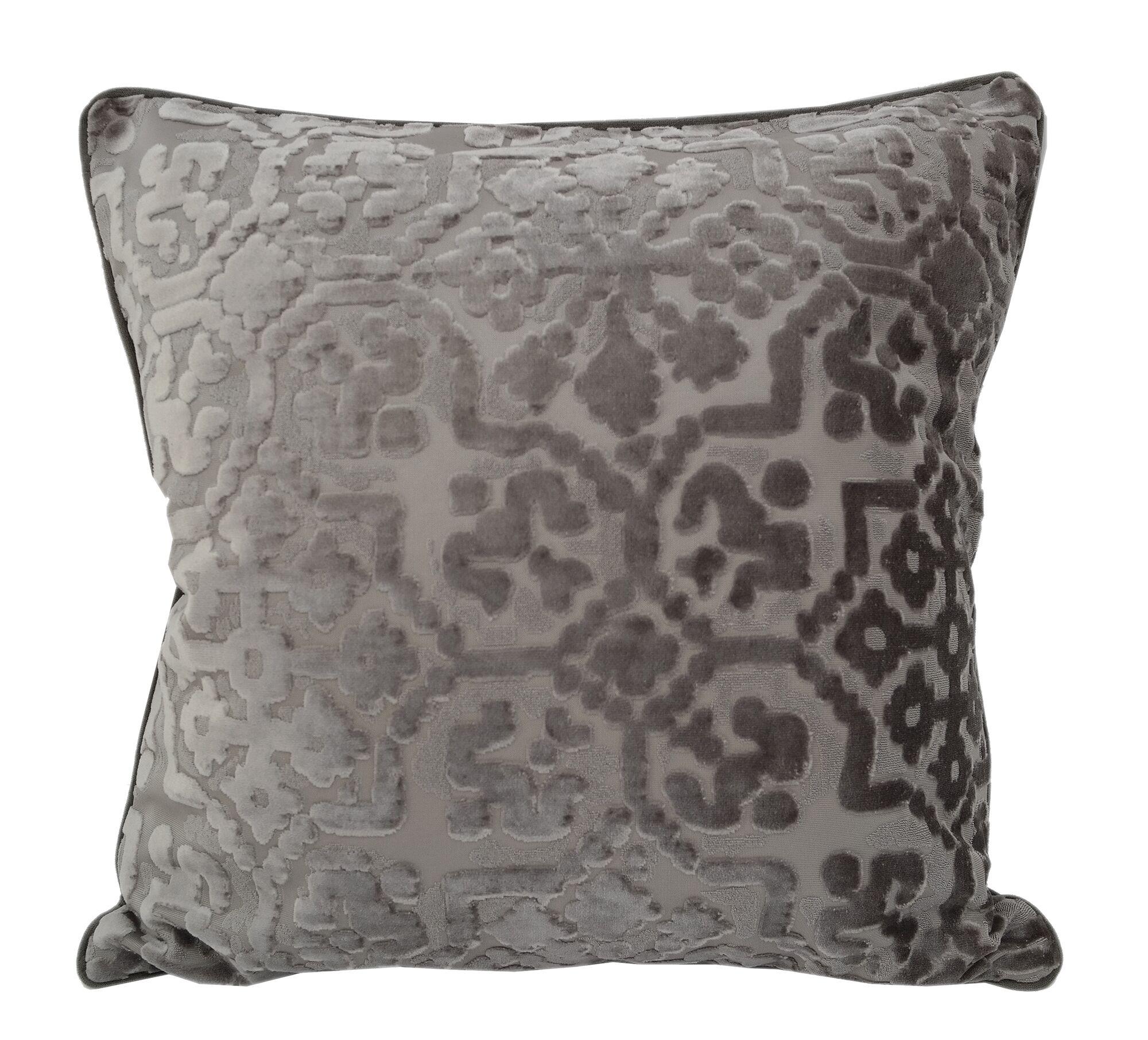 Heswall Modern Throw Pillow Color: Gray