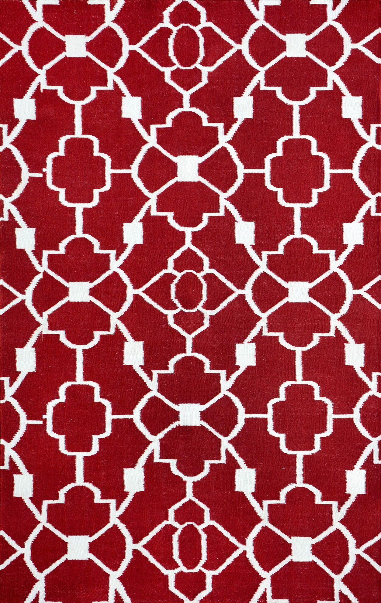 Ozzie Red Indoor/Outdoor Area Rug Rug Size: Rectangle 5' x 8'