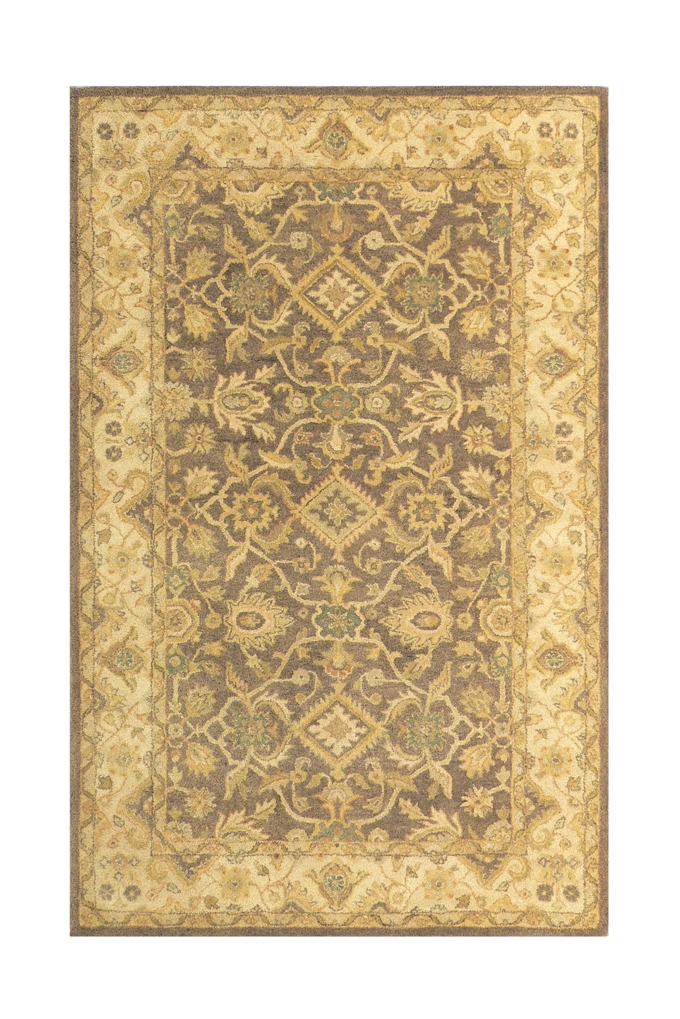 Brown/Sand Area Rug Rug Size: Rectangle 5' x 8'