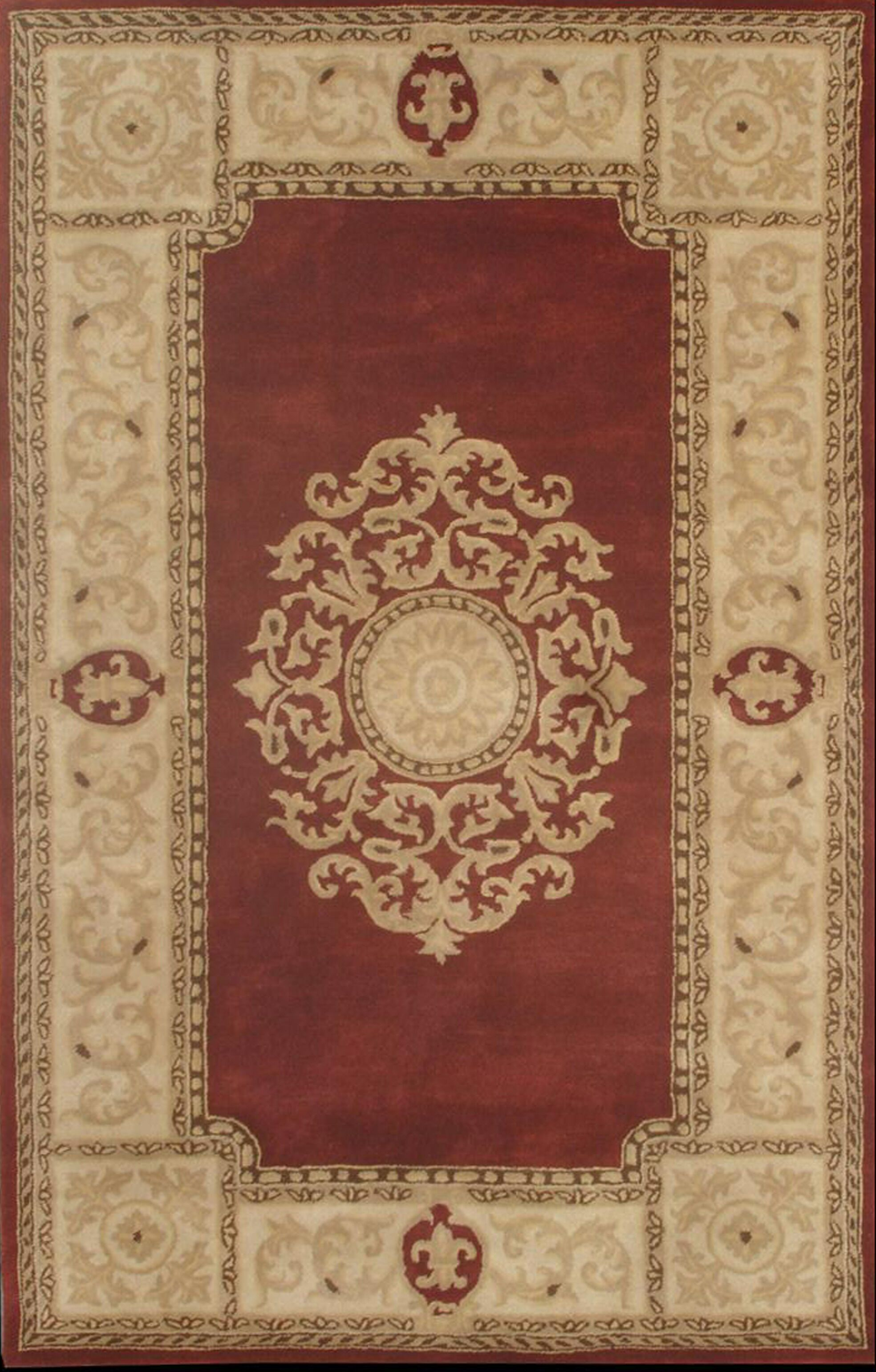 Coleford Red Area Rug Rug Size: Rectangle 6' x 8'