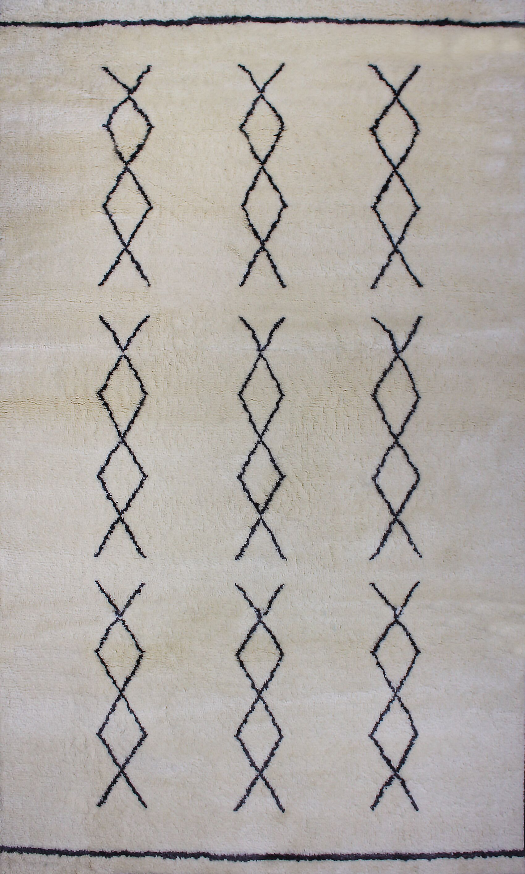 Borkholder Hand-knotted Natural Area Rug Rug Size: Rectangle 5' x 8'