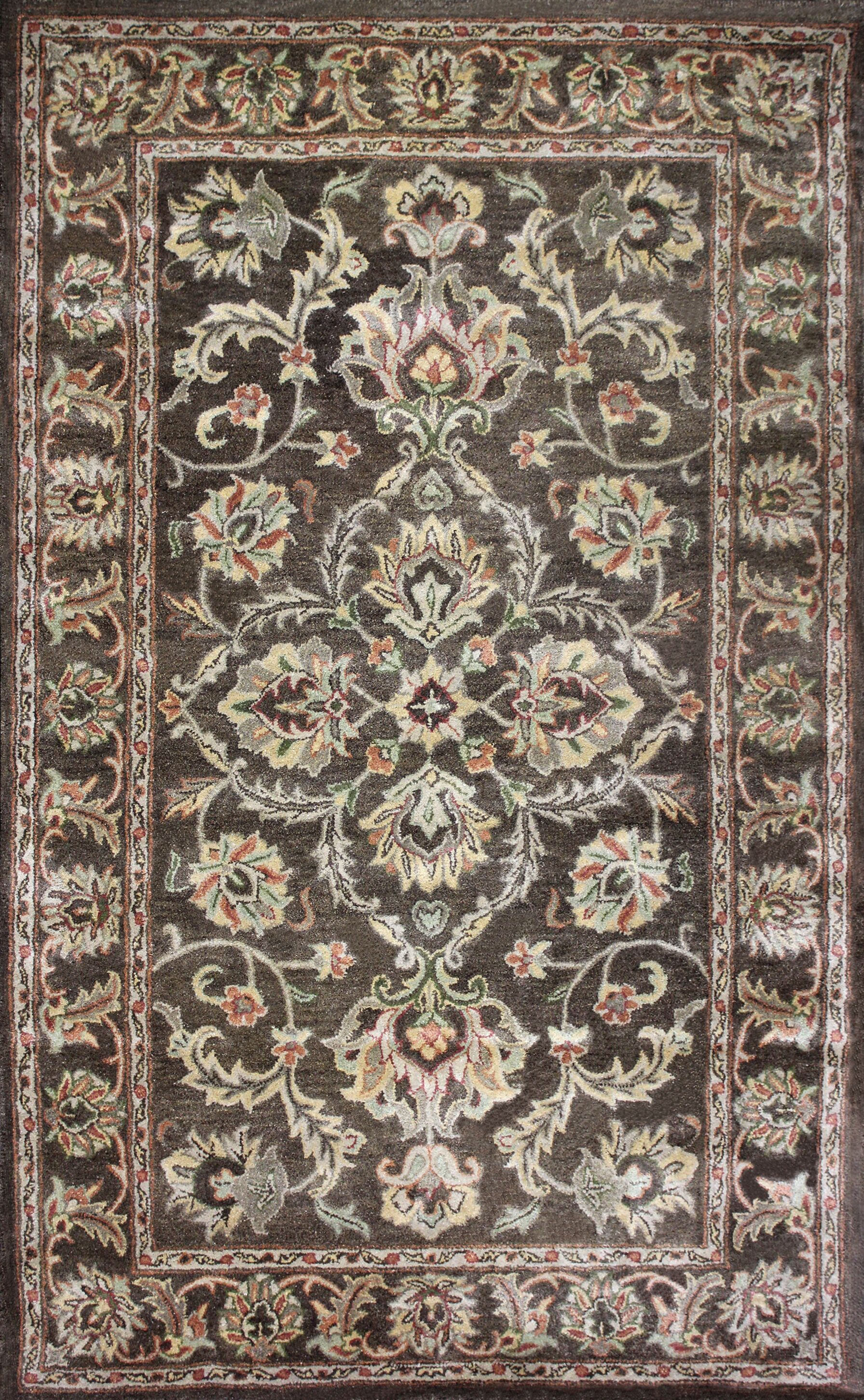Sneed Hand-Tufted Brown Area Rug Rug Size: 8' x 11'
