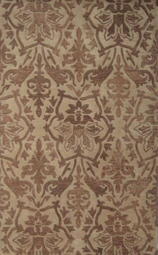 Brucelyn Handmade Beige Area Rug Rug Size: Rectangle 8' x 11'