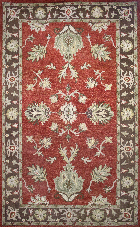 Modbury Red/Brown Area Rug Rug Size: 8' x 11'