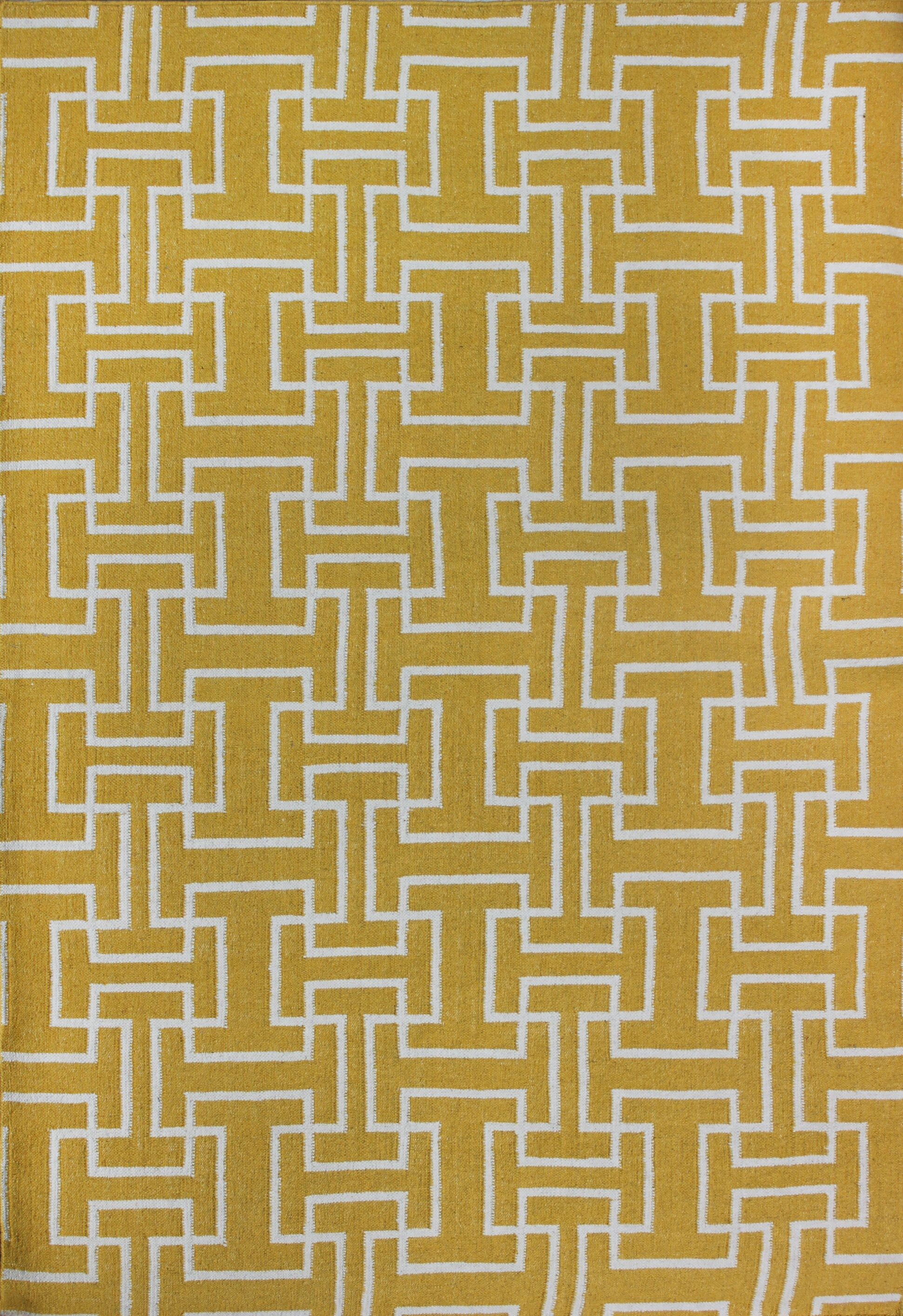 Buster Yellow Area Rug Rug Size: 8' x 11'