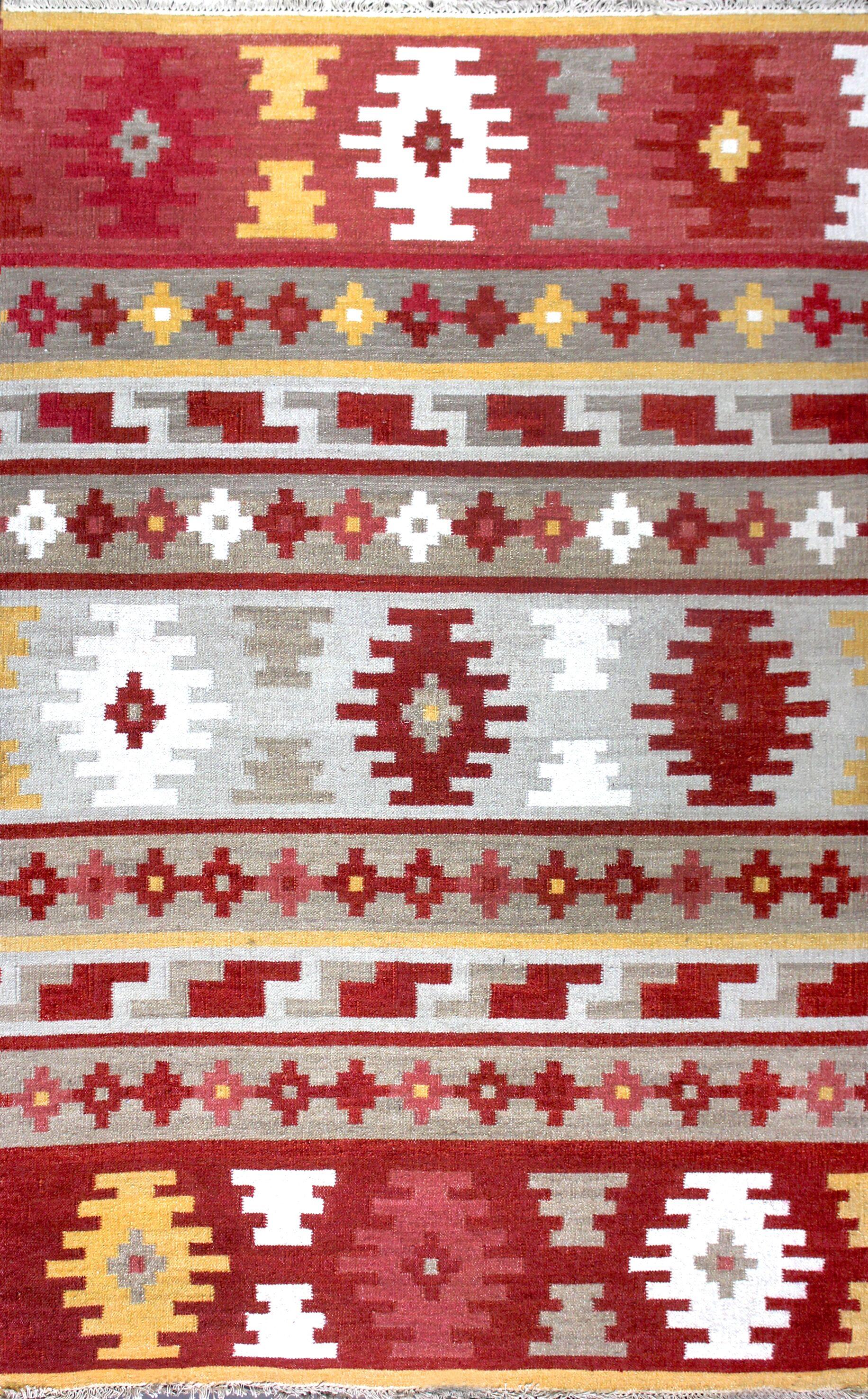 Patridge Hand Woven Wool Red/Orange Area Rug Rug Size: 8'6