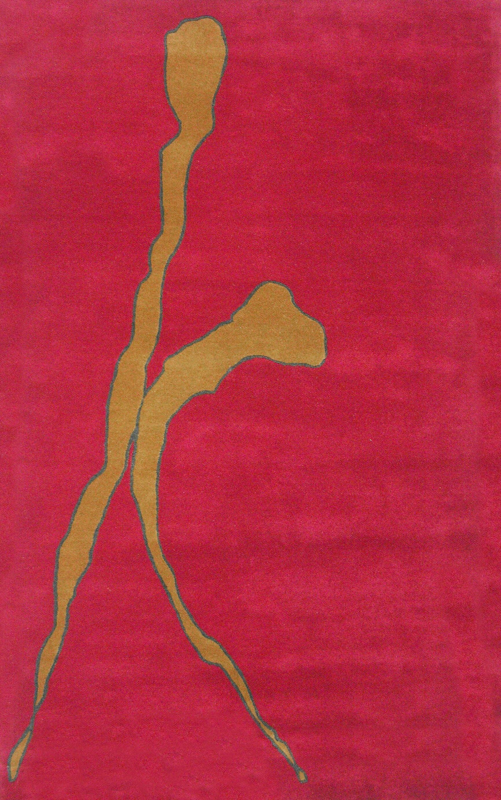 Rioux Red Rug Rug Size: Rectangle 5' x 8'