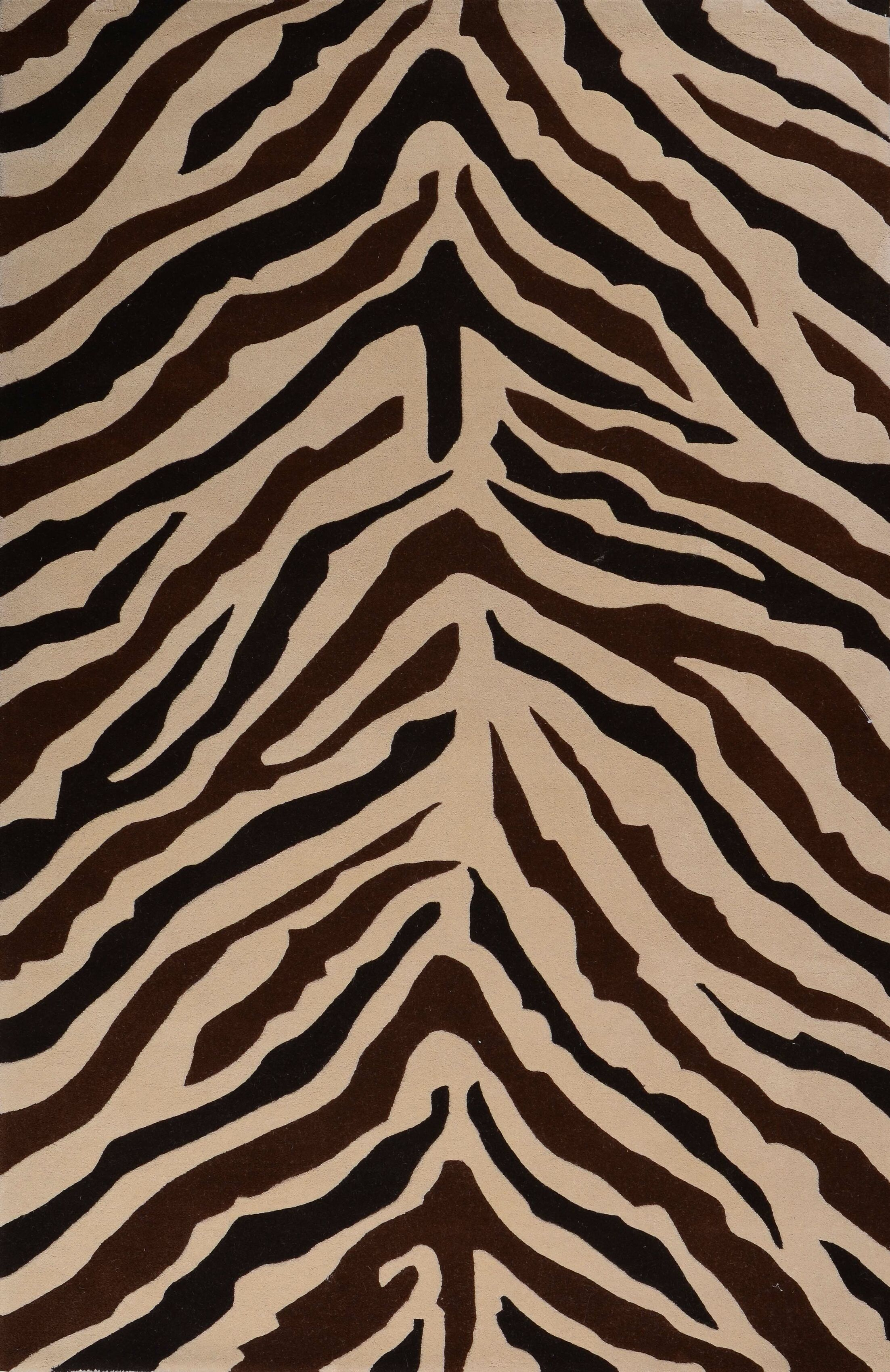 Penley Zebra Rug Rug Size: 5' x 8'