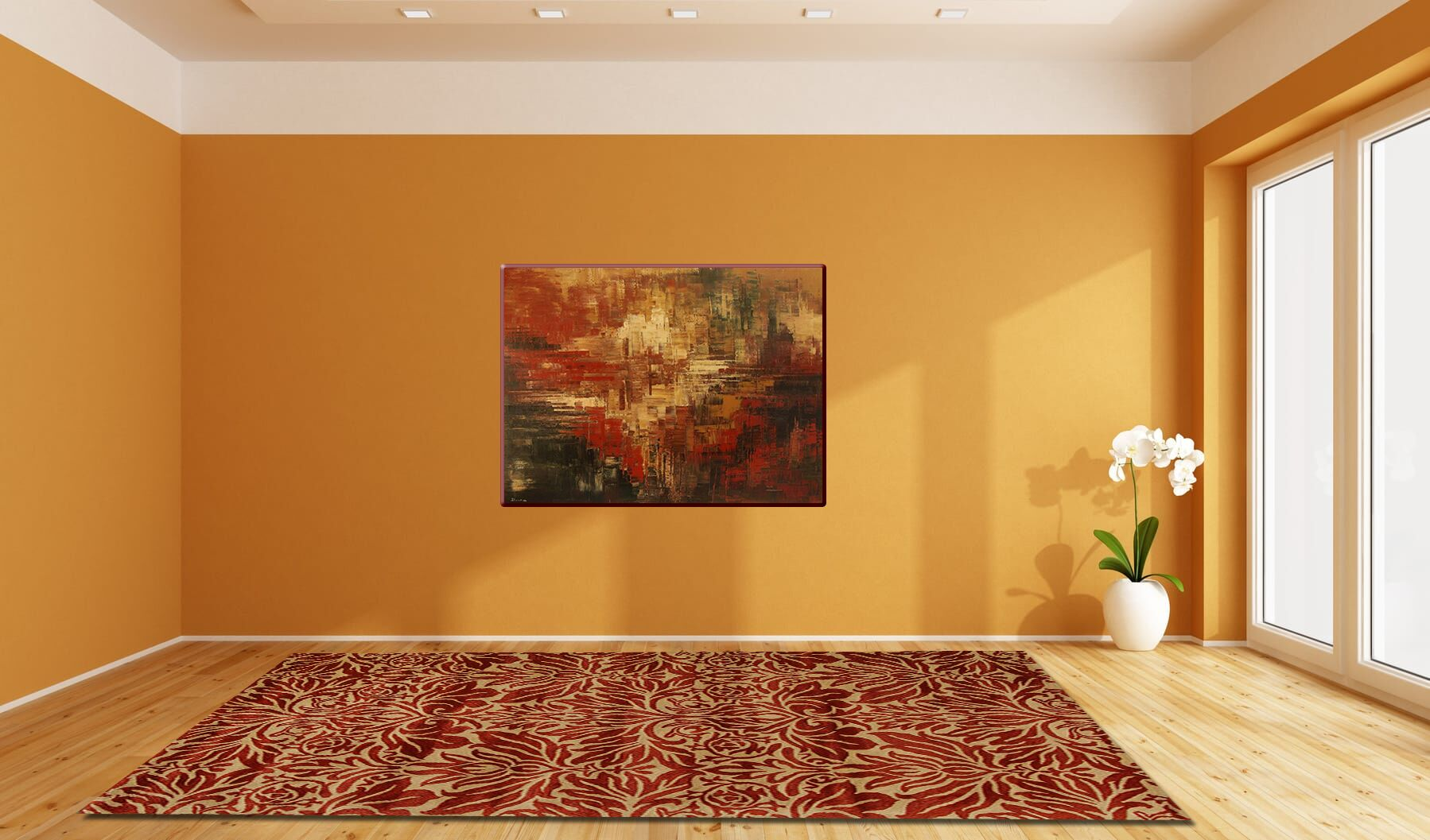 Smart Red Area Rug Rug Size: 5' x 8'