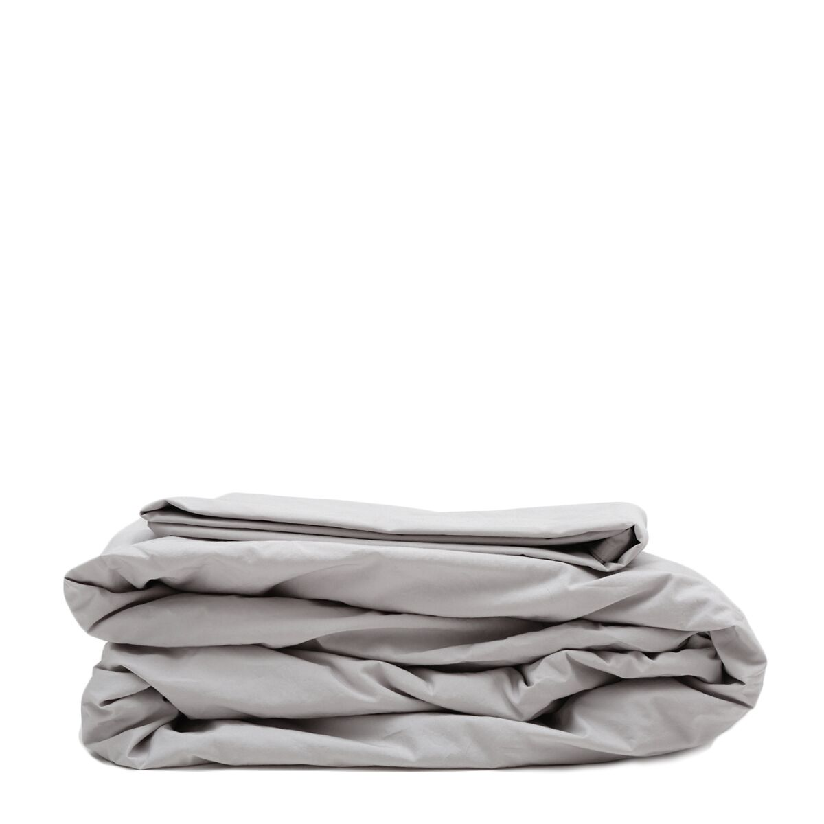 300 Thread Count Cotton Percale Sheet Set Size: King, Color: Light Gray