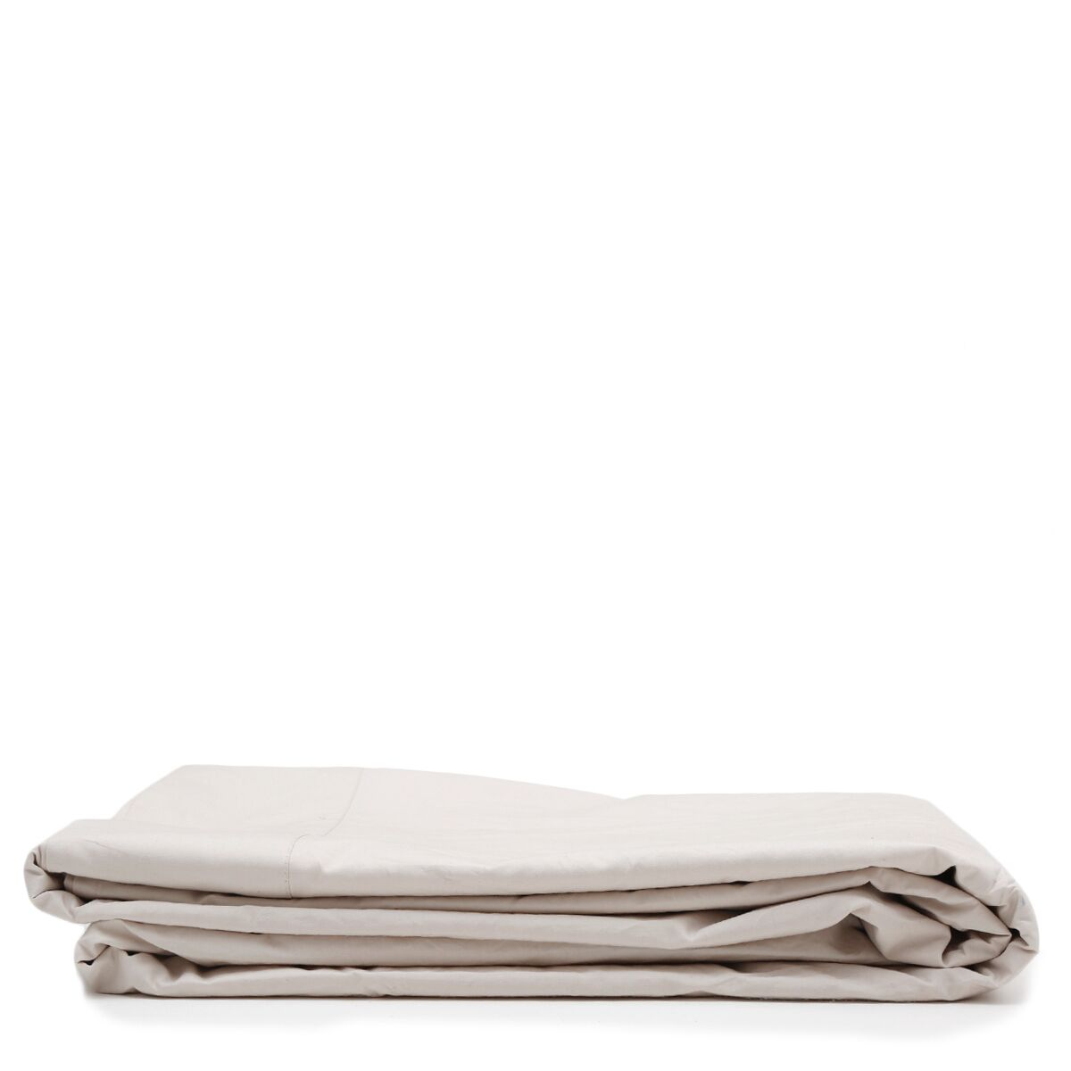 300 Thread Count Cotton Percale Flat Sheet Color: Taupe, Size: California King