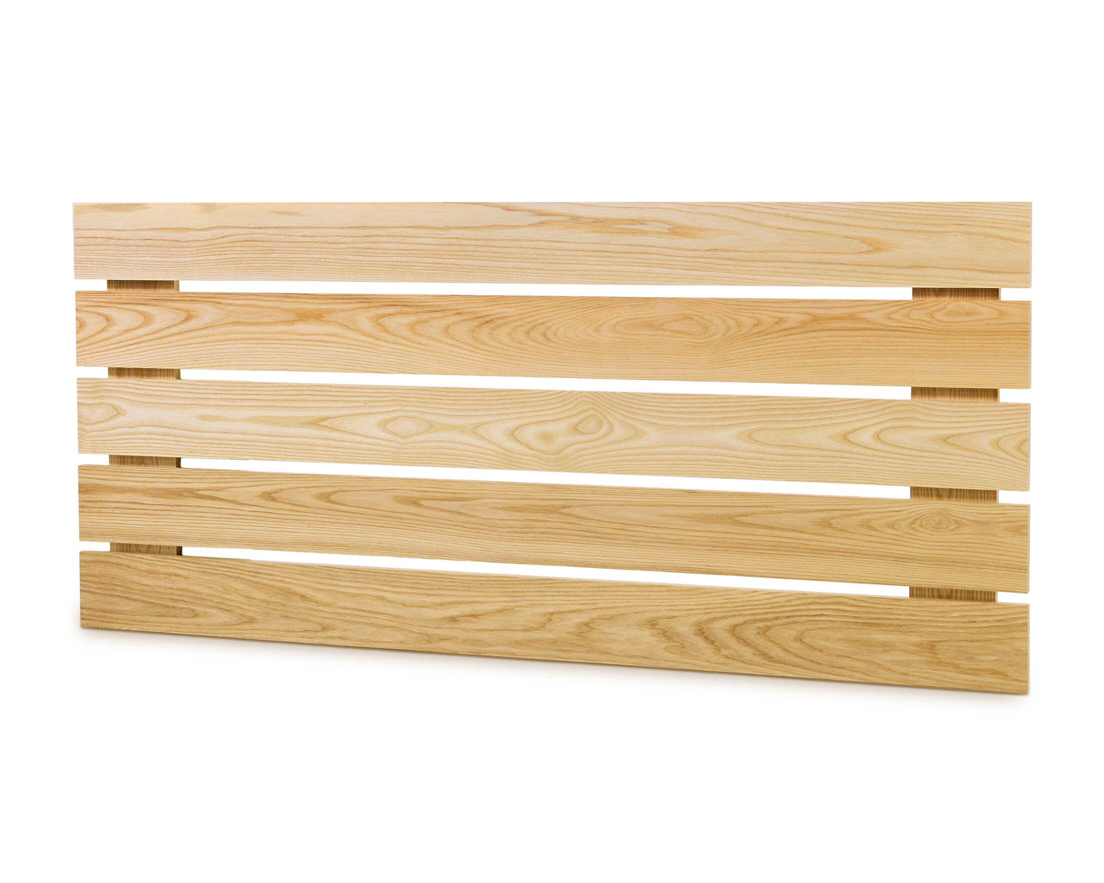 Slat Headboard Size: Full, Color: Natural