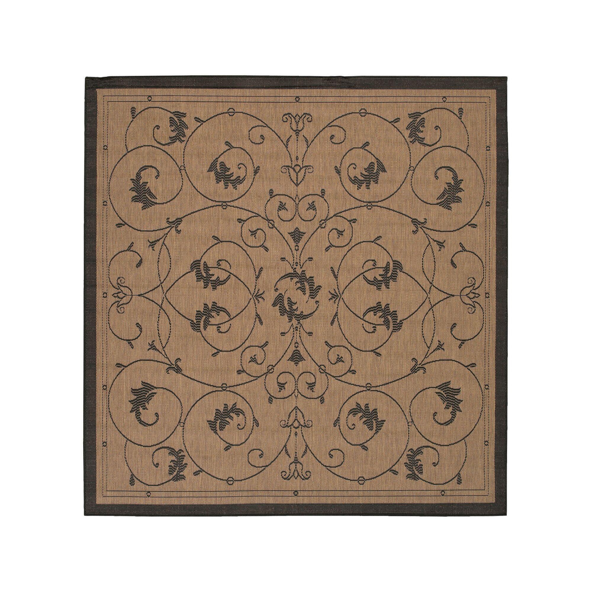 Charlene Cocoa Area Rug Rug Size: Square 8'6