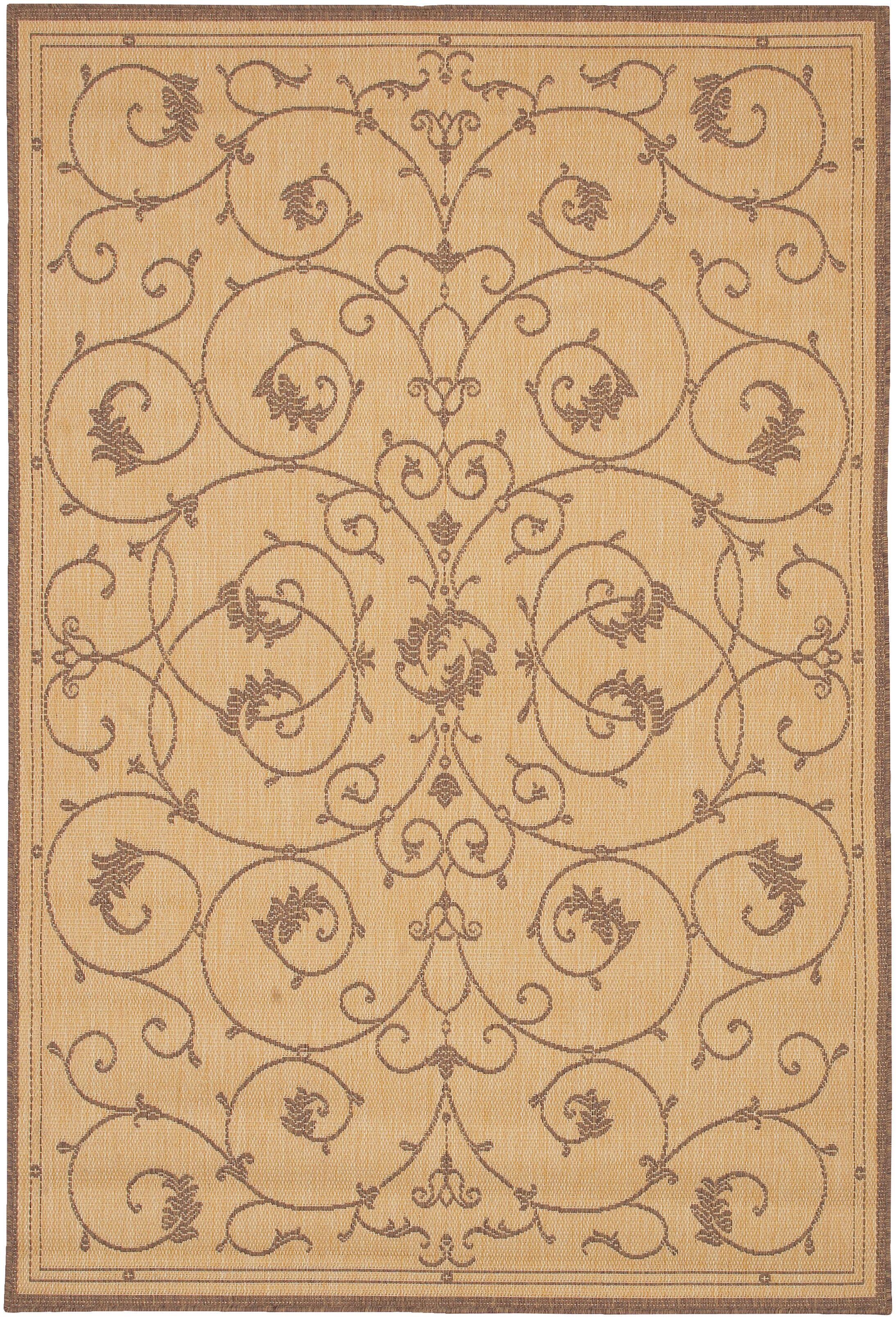 Charlene Beige/Brown Area Rug Rug Size: Rectangle 5'3