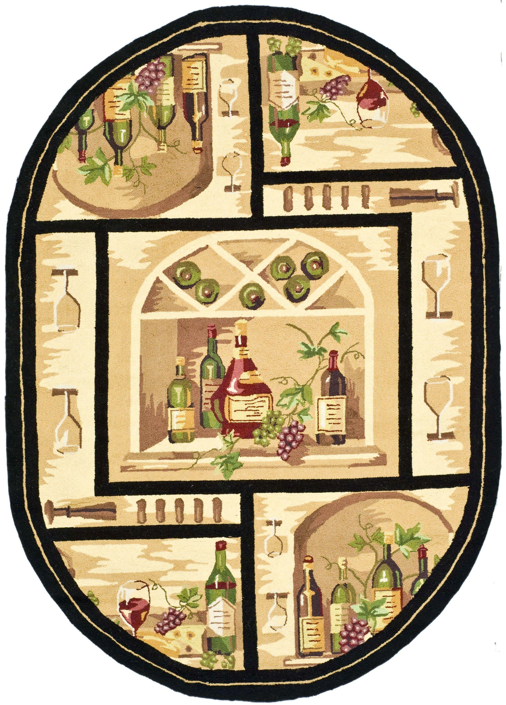 Brayton Ivory Wine Cellar Novelty Area Rug Rug Size: Rectangle 2'9