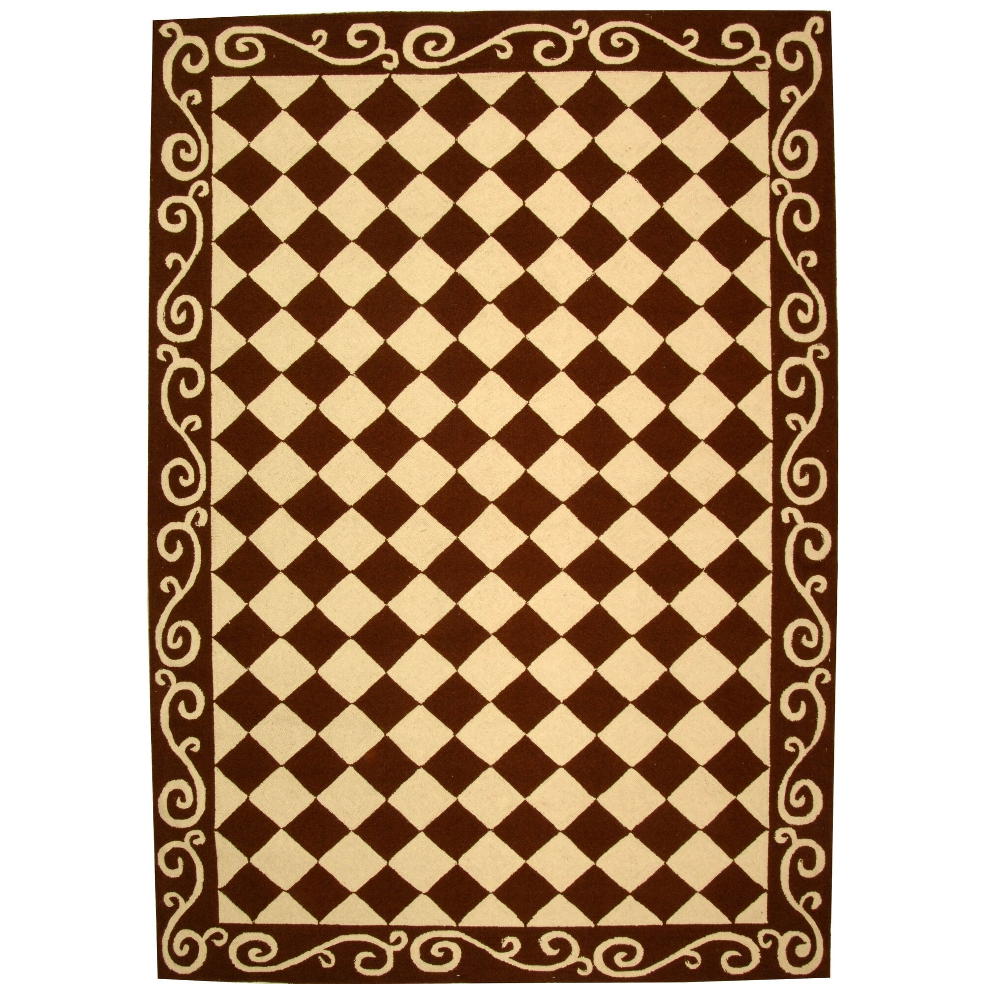 Brayton Brown/Ivory Area Rug Rug Size: Rectangle 5'3
