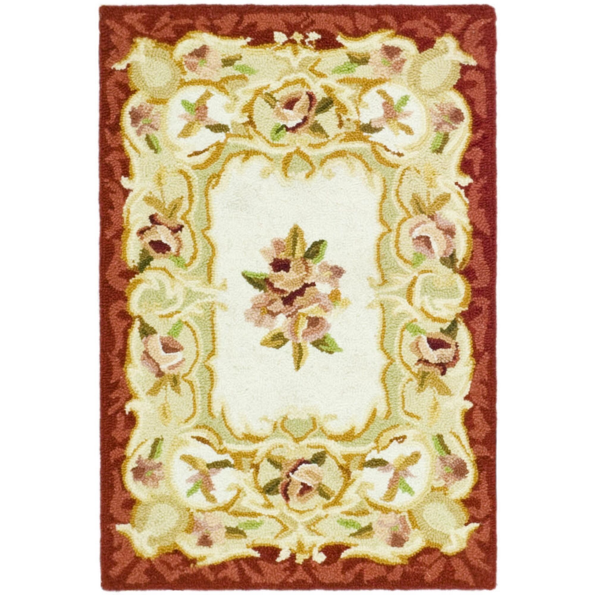 Brayton Ivory/Burgundy Area Rug Rug Size: Rectangle 8'9