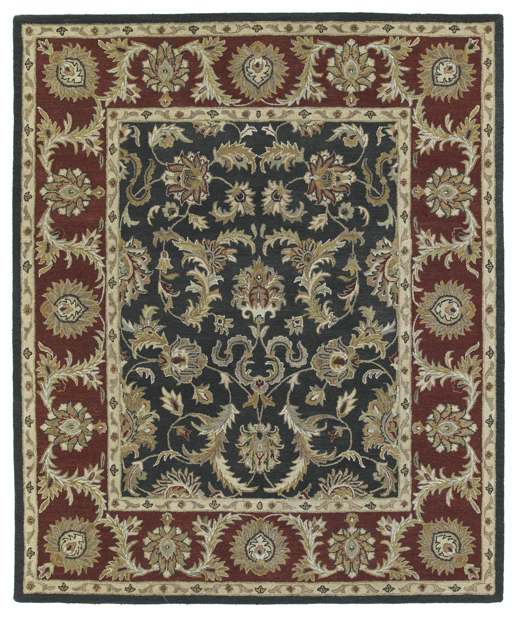 Chisolm King David Graphite Area Rug Rug Size: Rectangle 4' x 6'
