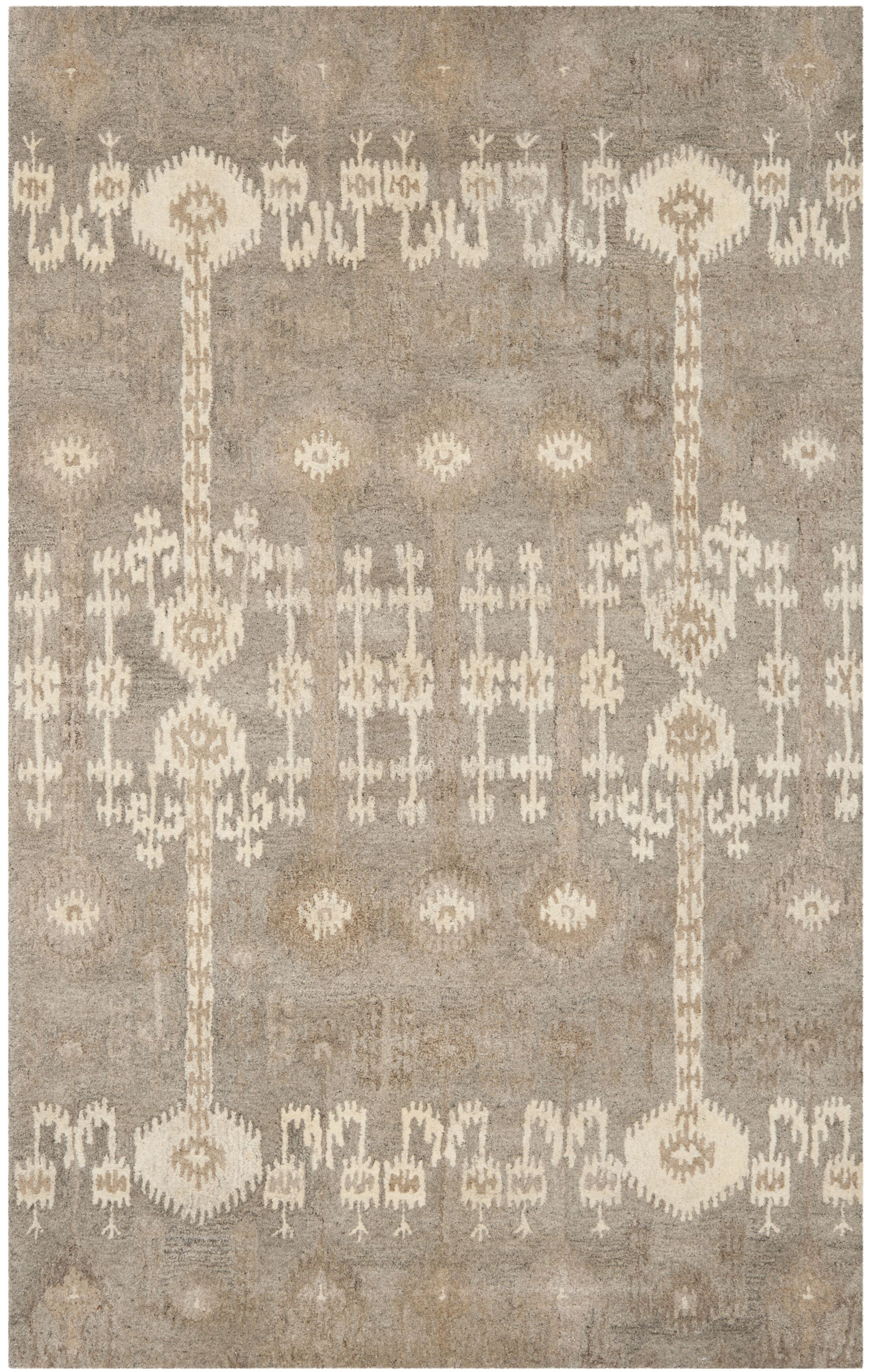 Roberts Hand-Tufted Brown Area Rug Rug Size: Rectangle 3' x 5'