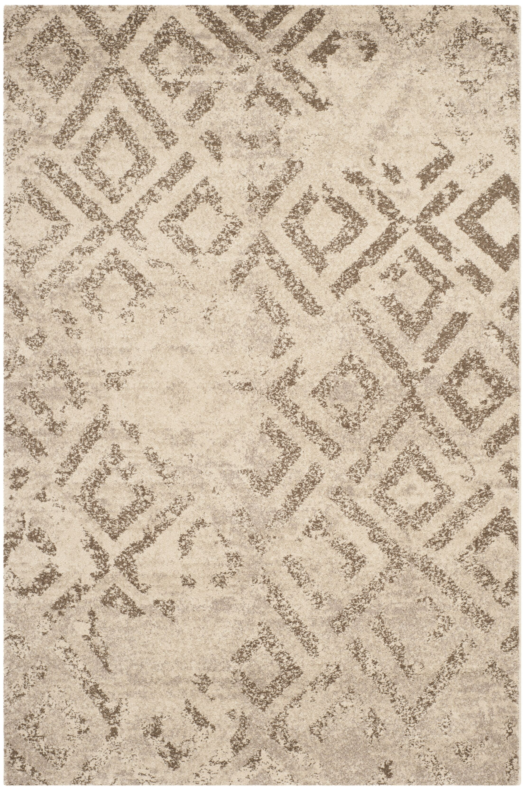Bennett Ivory/Taupe Area Rug Rug Size: Rectangle 5'1