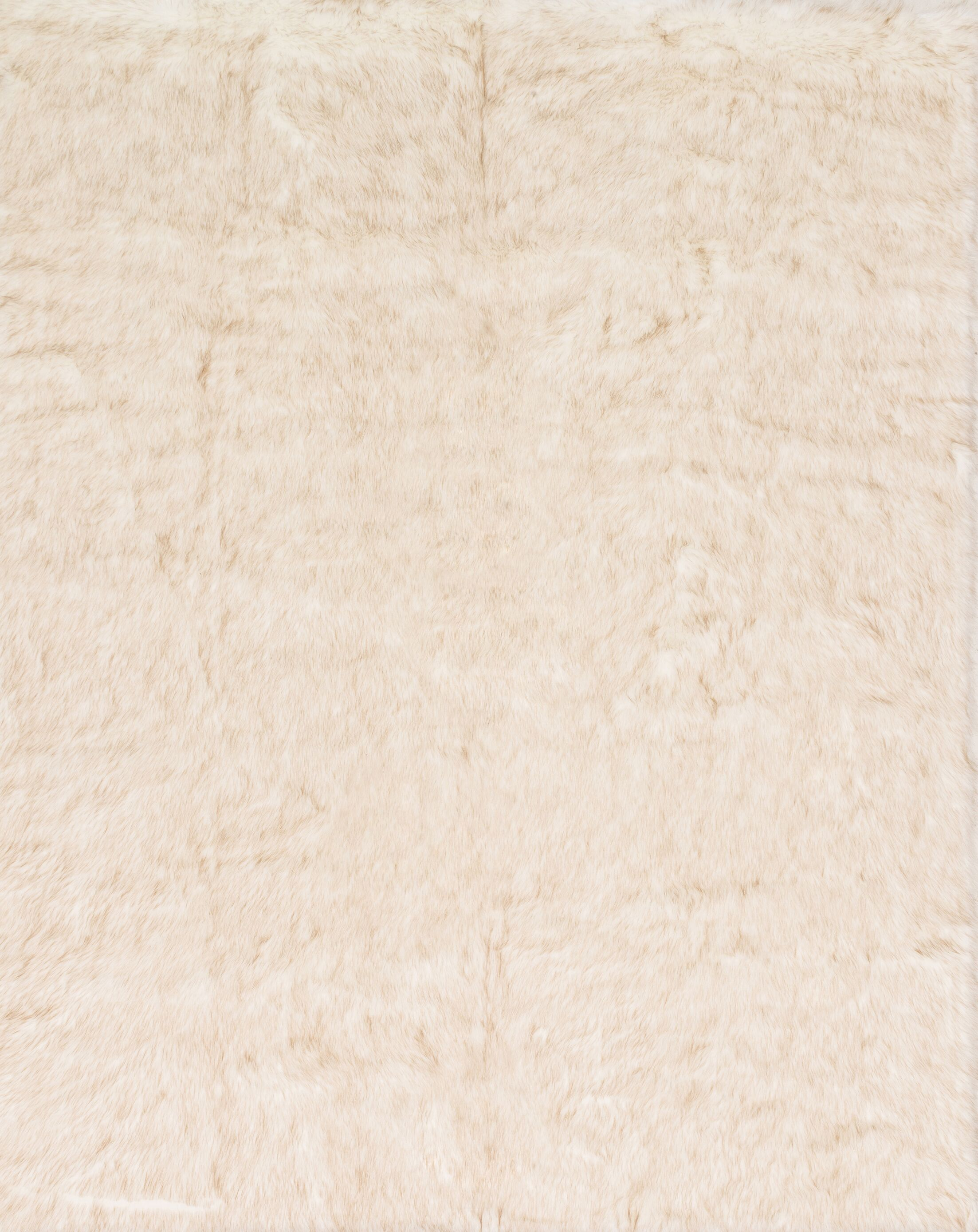 Ashleigh Faux Fur Ivory/Beige Area Rug Rug Size: Rectangle 5' x 7'6