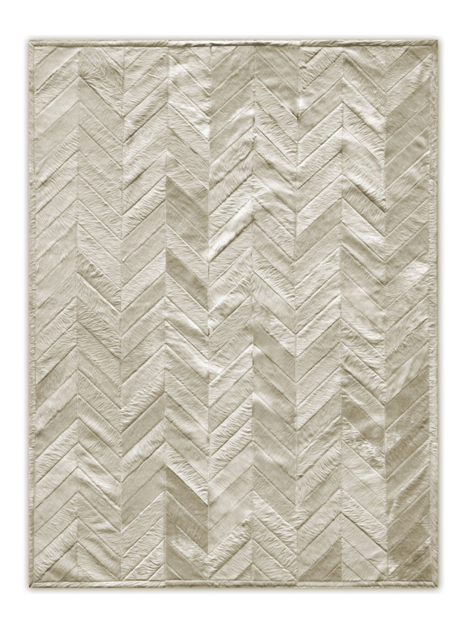 Josephina Stitch Hand-Woven Cowhide Parquet Natural Area Rug Rug Size: 8' x 10'