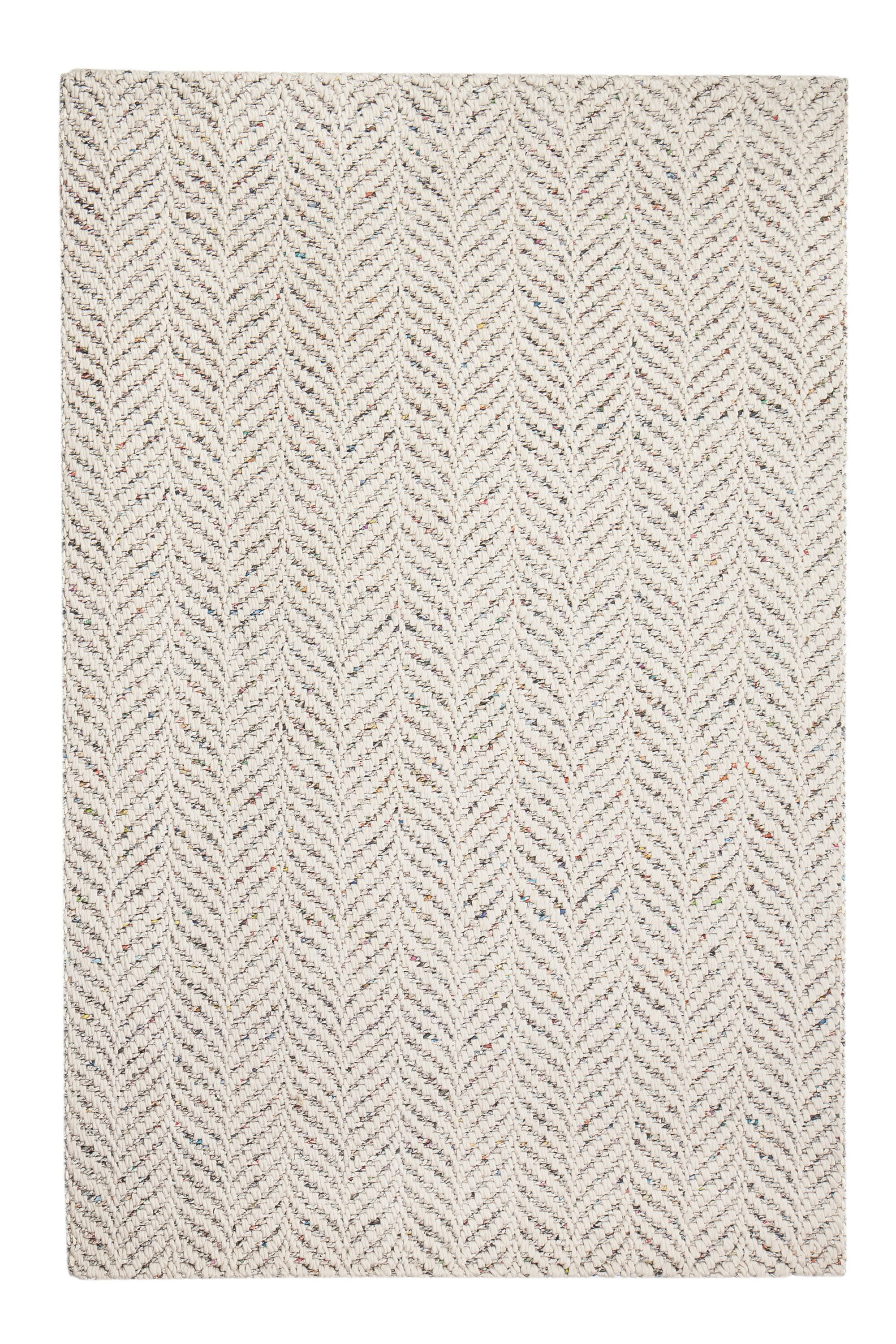 Sigrid Hand-Woven Ivory Area Rug Rug Size: 8' x 10'
