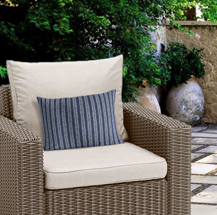 Couturier Outdoor Lumbar Pillow (Set of 19) Color: Indigo