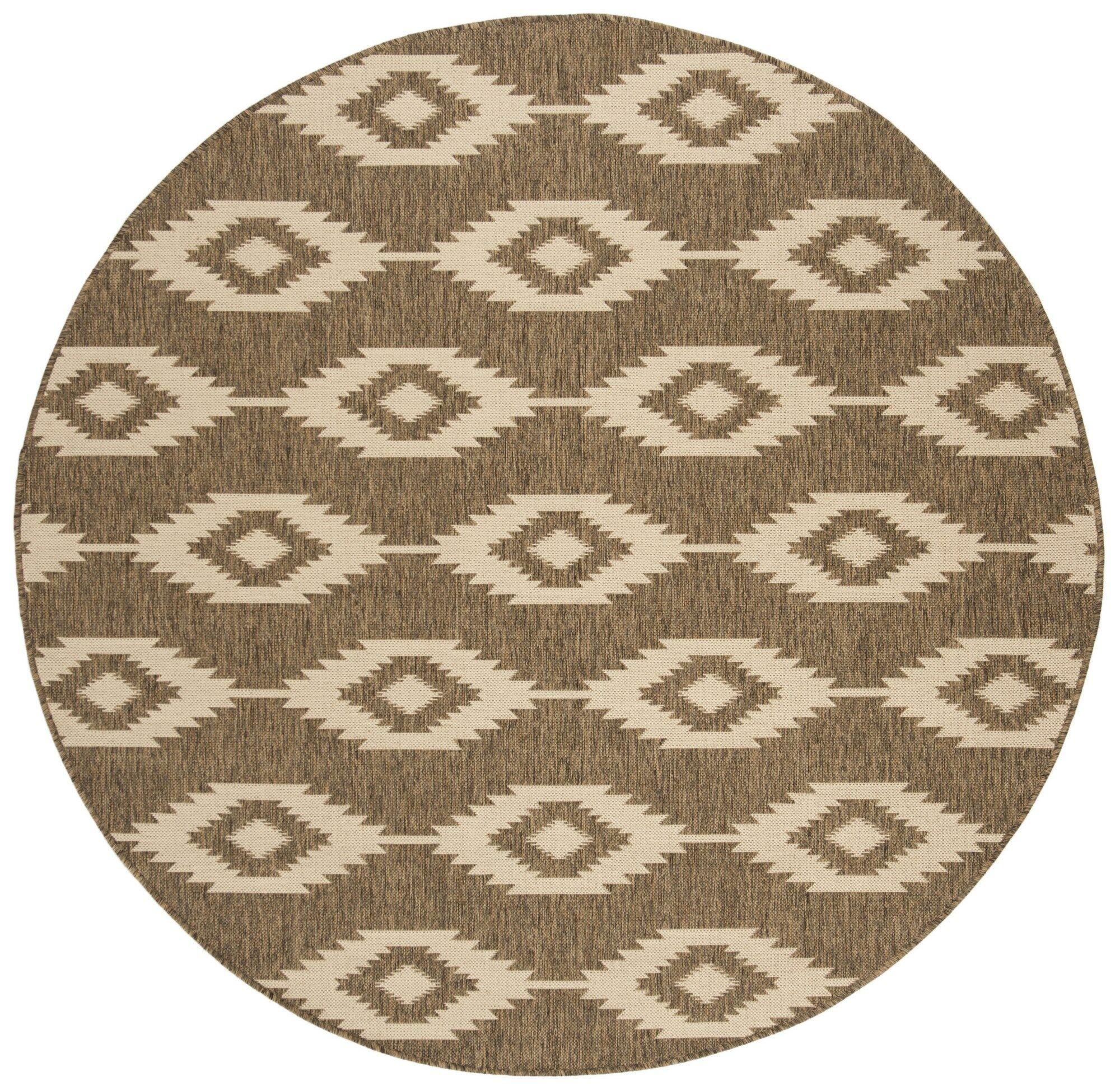 Lollar Cream/Beige Area Rug Rug Size: Round 6'7
