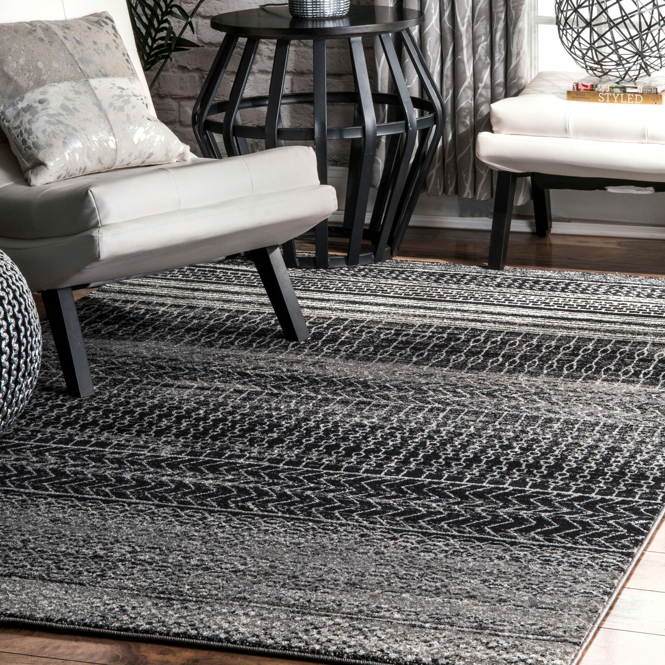 Patel Dark Gray Area Rug Rug Size: Rectangle 5' x 7'5