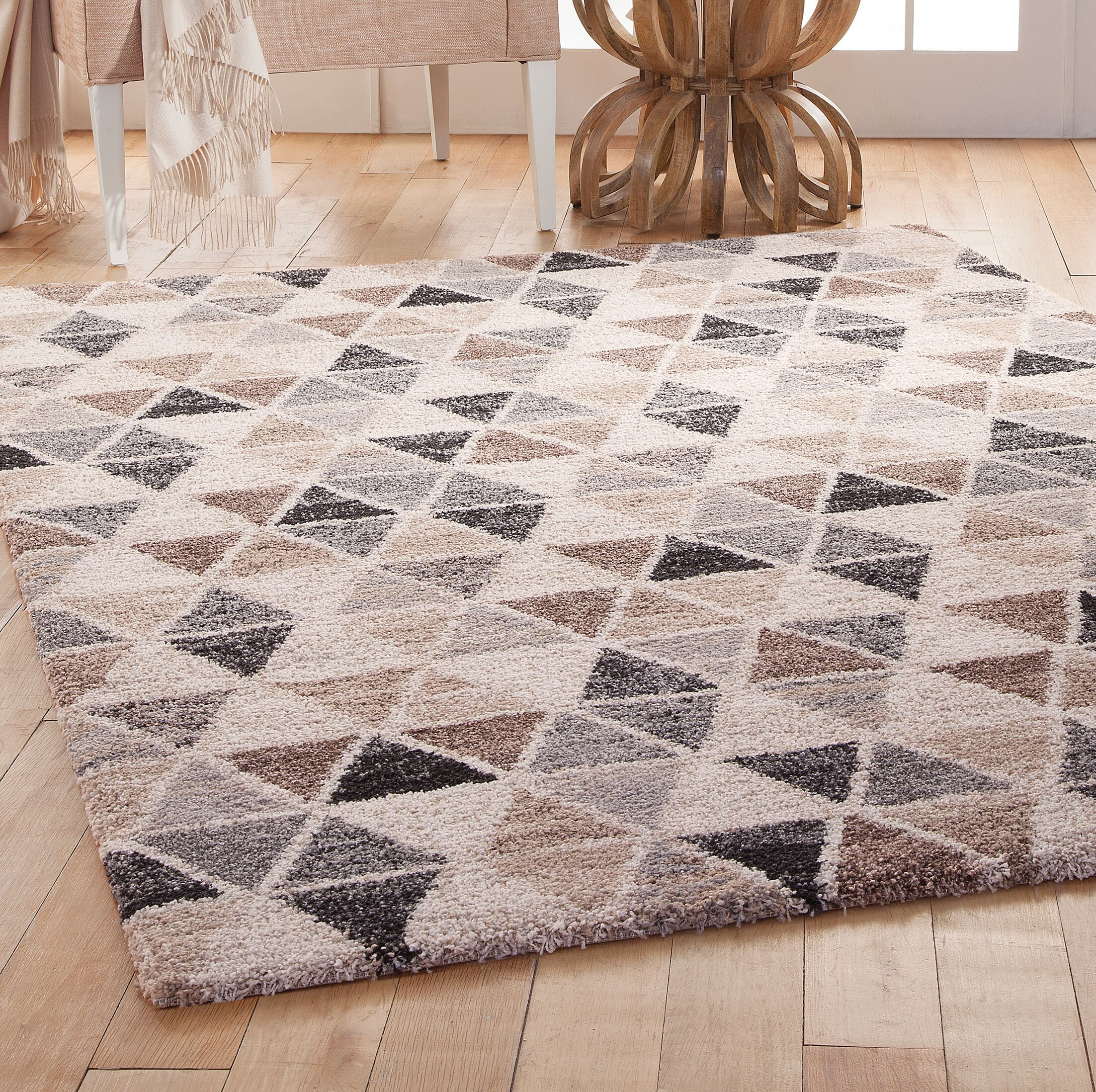 Devin Gray/Brown Area Rug Rug Size: 5'3