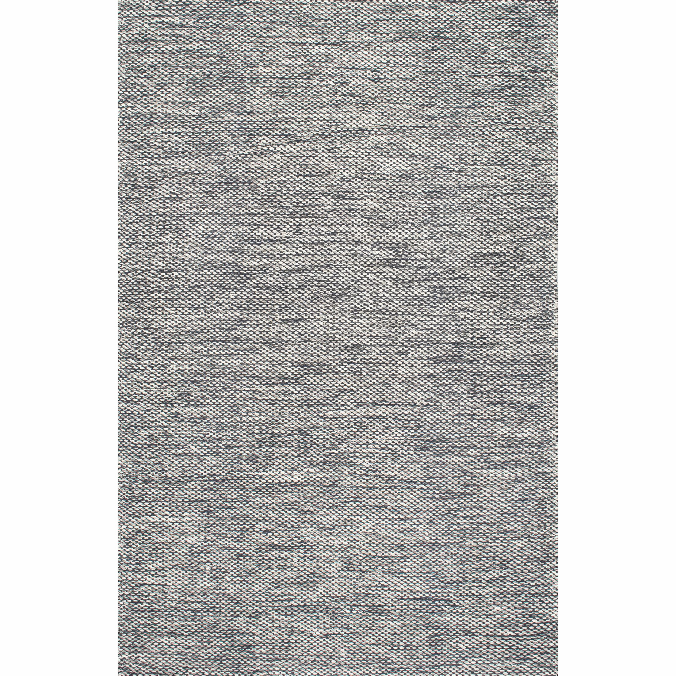 Parnell Hand-Woven Gray Area Rug Rug Size: Rectangle 8'6