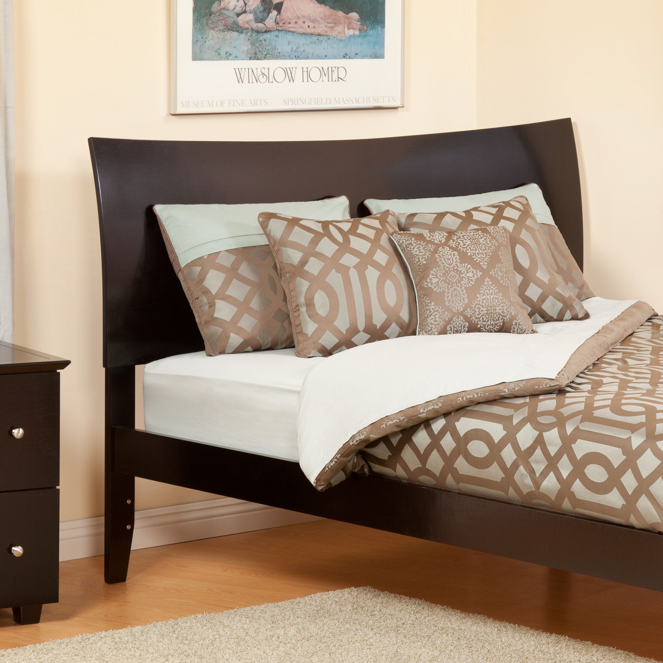 Soho Sleigh Headboard Color: Espresso, Size: Full