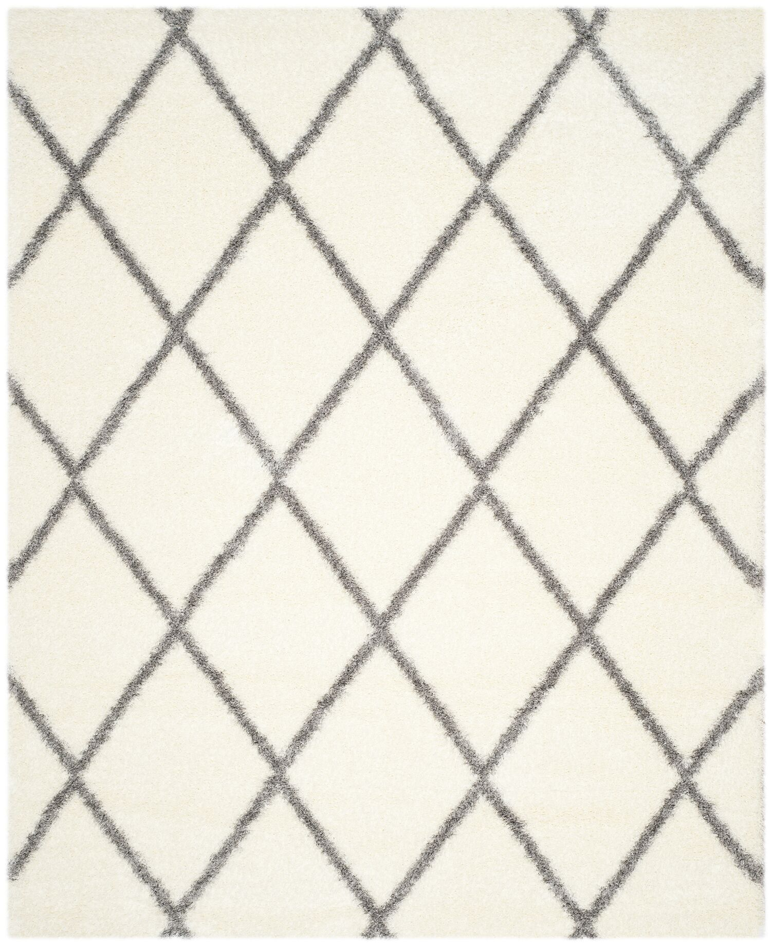 Macungie Gray/Beige Area Rug Rug Size: Rectangle 8' x 10'
