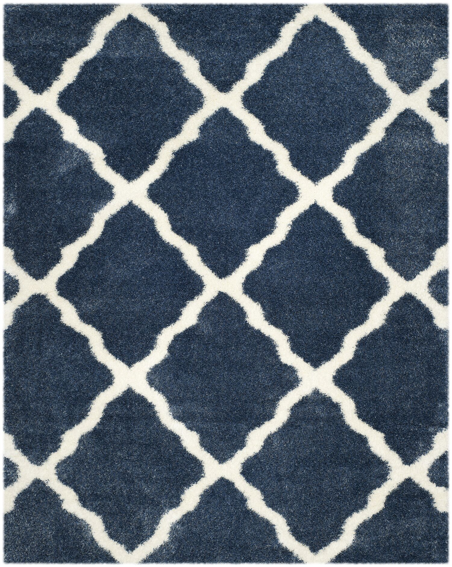 Macungie Blue / Ivory Indoor Area Rug Rug Size: Rectangle 8' x 10'