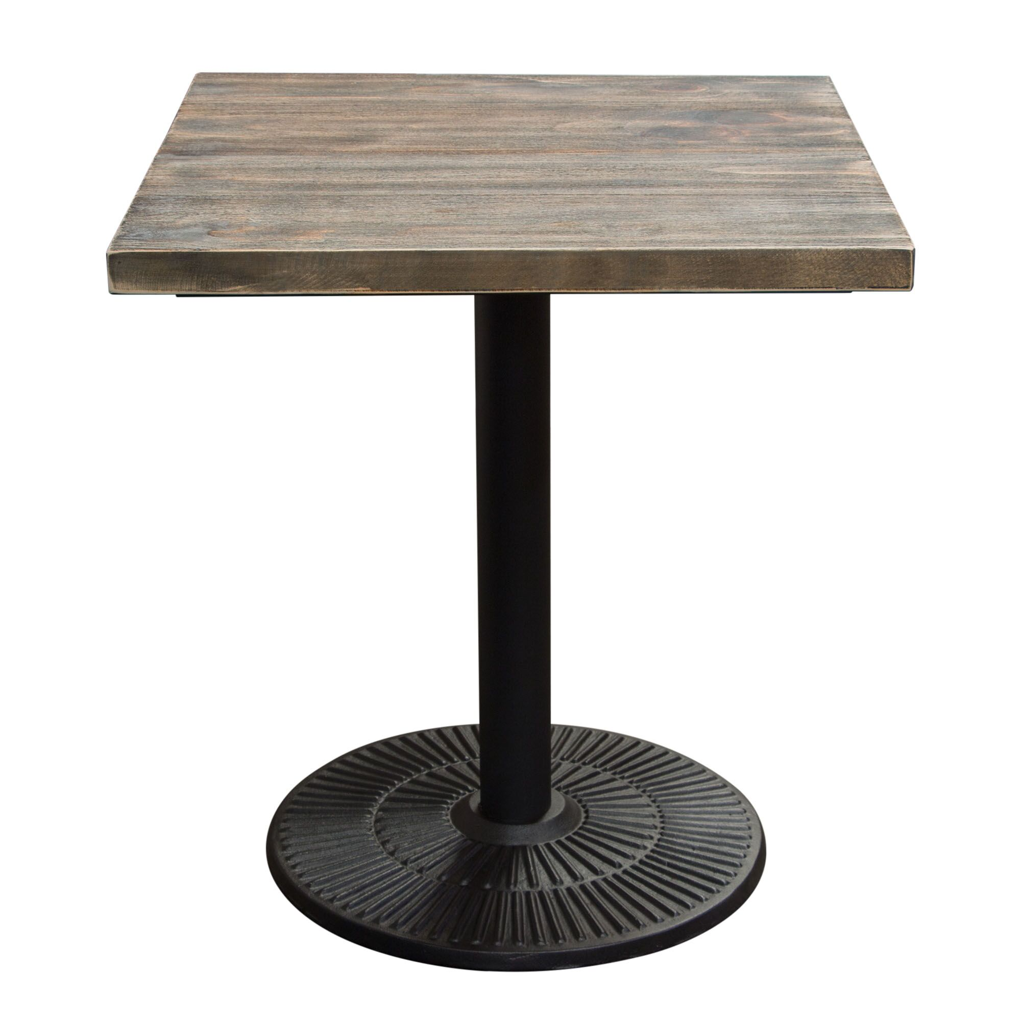 Caddys Square Iron Bistro Table