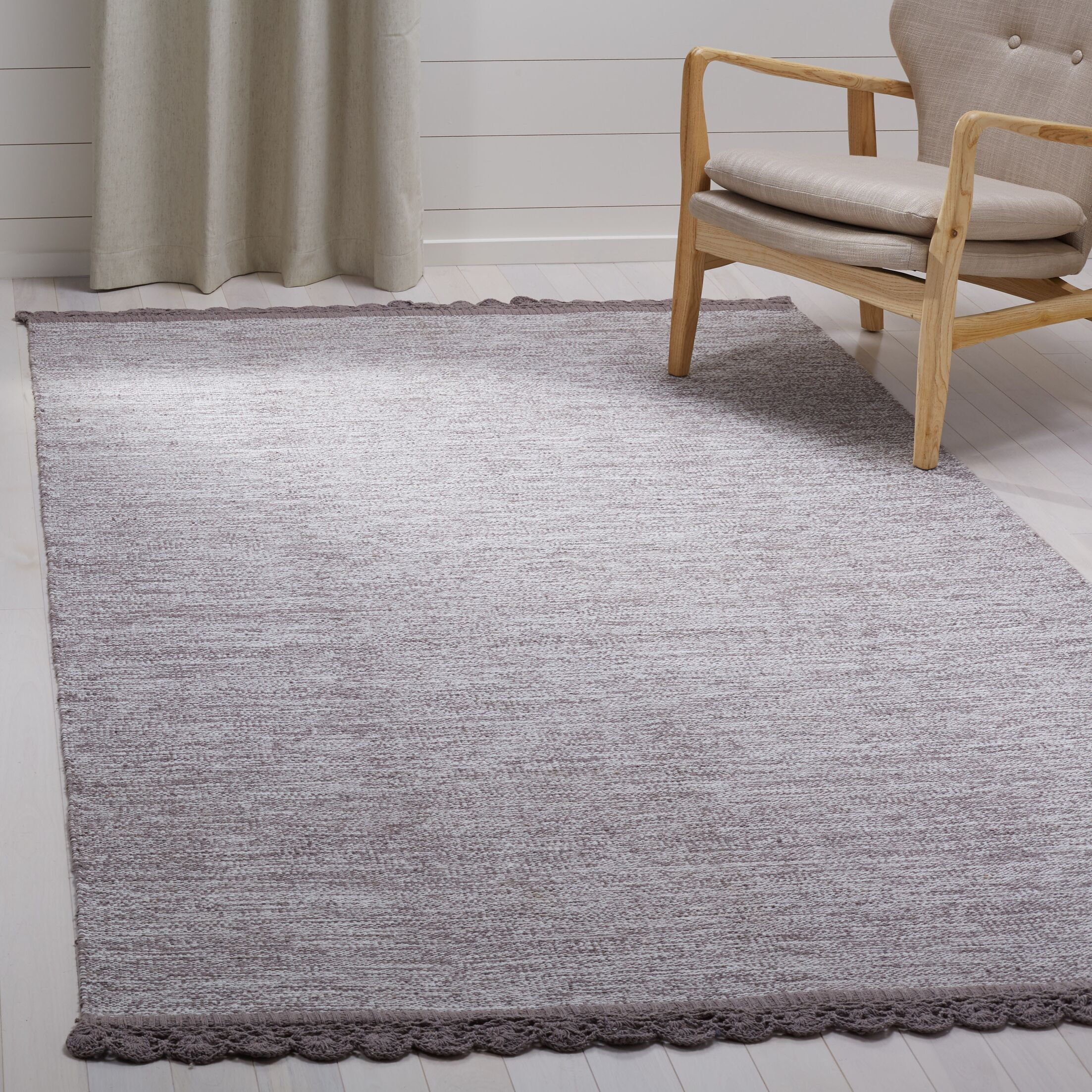 Mohnton Hand-Woven Gray Area Rug Rug Size: Rectangle 5' x 8'