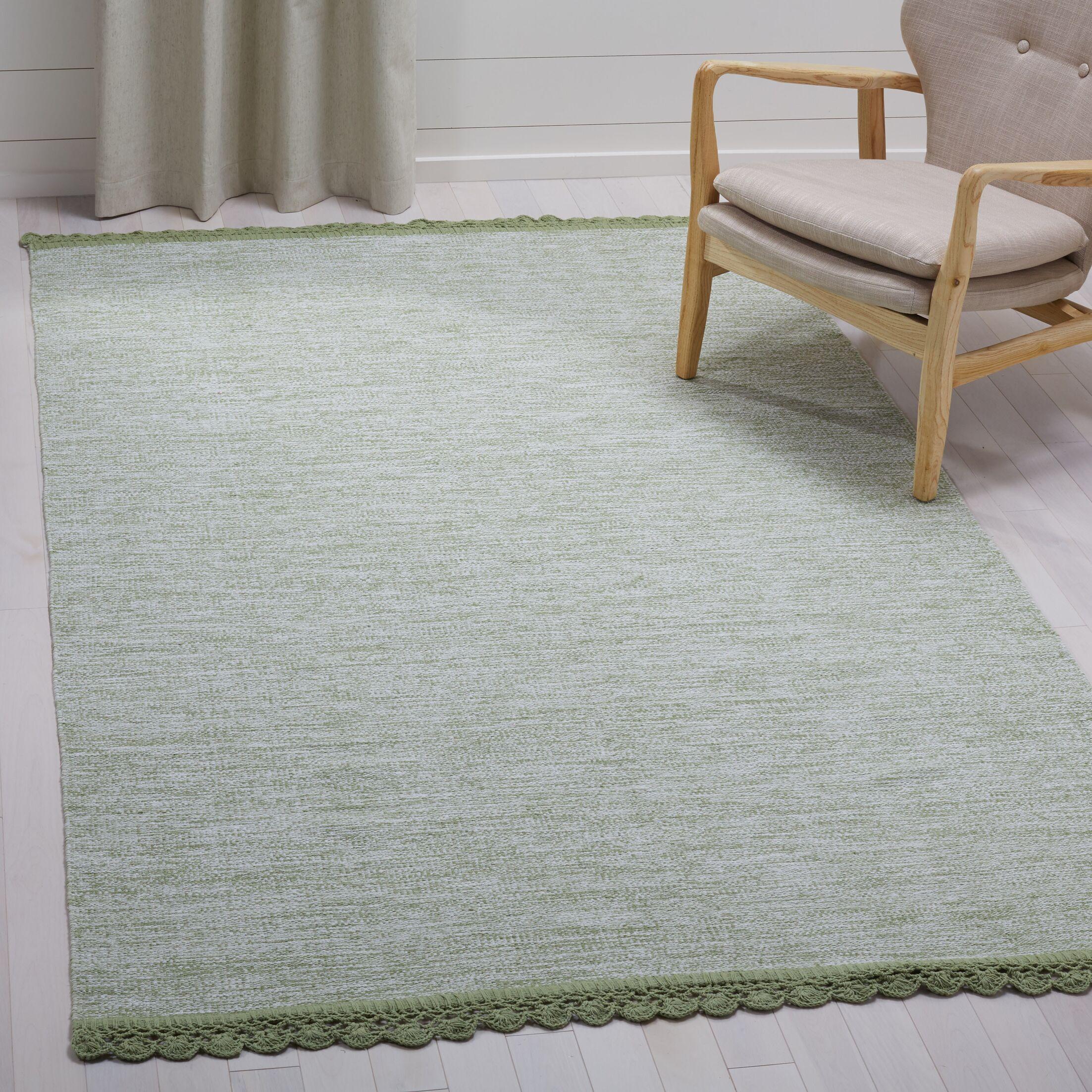 Mohnton Hand-Woven Green/Gray Area Rug Rug Size: Rectangle 5' x 8'
