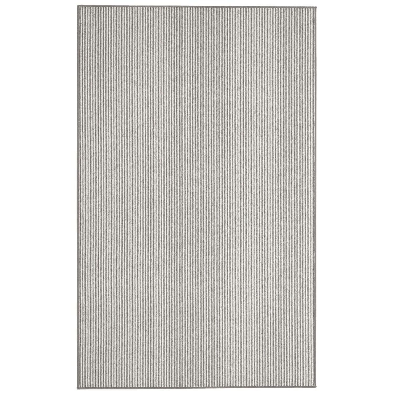 Meredith Charcoal Stripe Area Rug Rug Size: Runner 2'6
