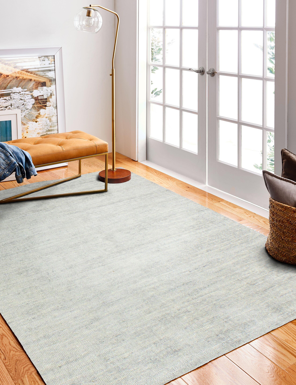 Severo Hand-Woven Silver Area Rug Rug Size: Rectangle 8'6