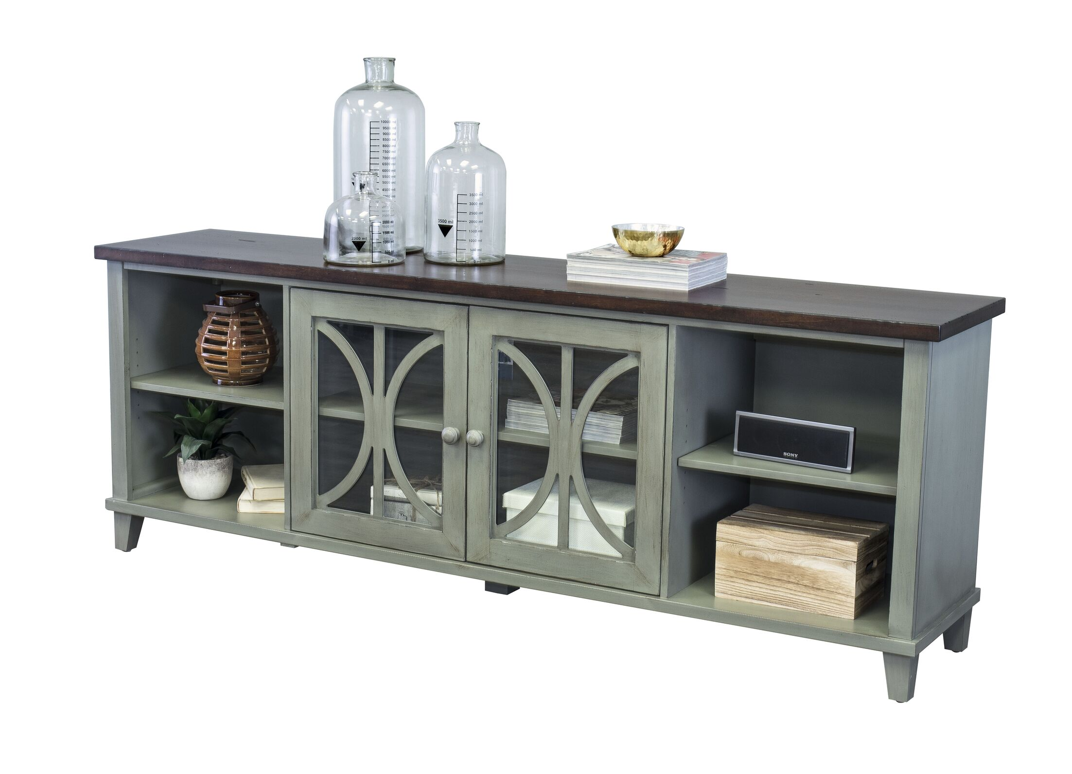 Peachstone 80'' TV Stand Color: Weathered Green