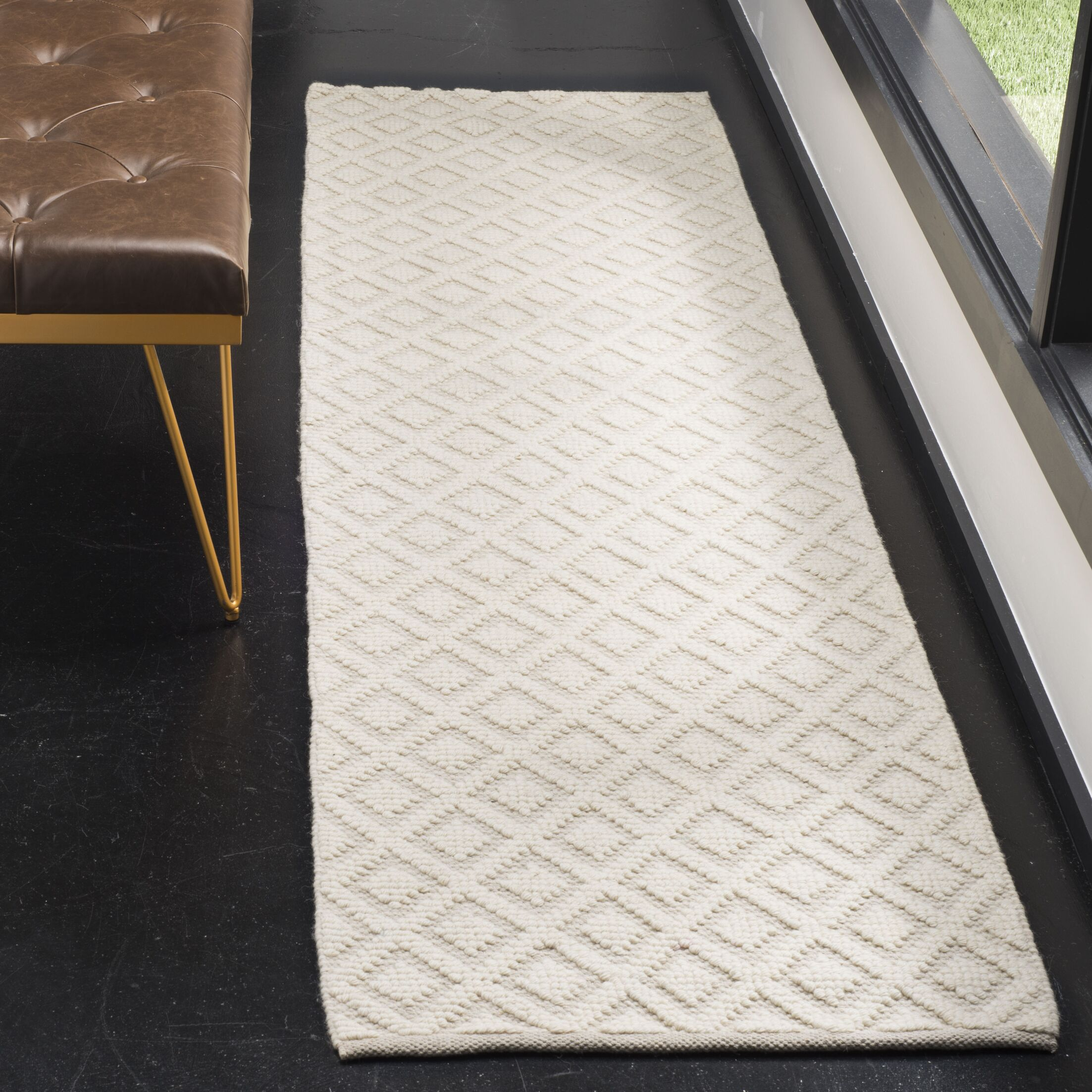 Xamiera Hand Tufted Wool And Cotton Ivory Area Rug Rug Size: Rectangle 8' x 10'