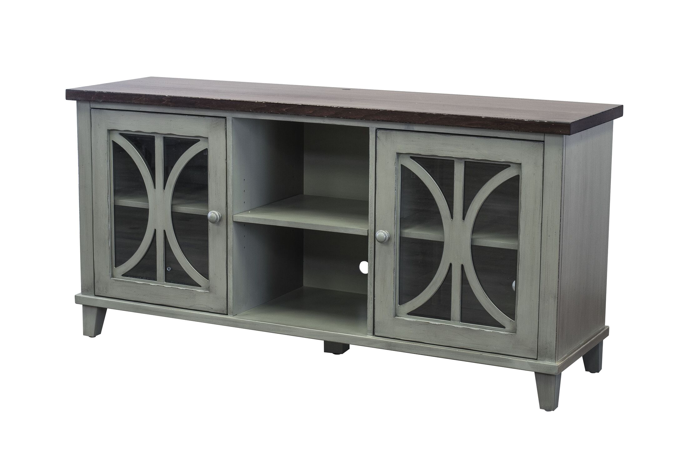 Peachstone 60'' TV Stand Color: Weathered Green