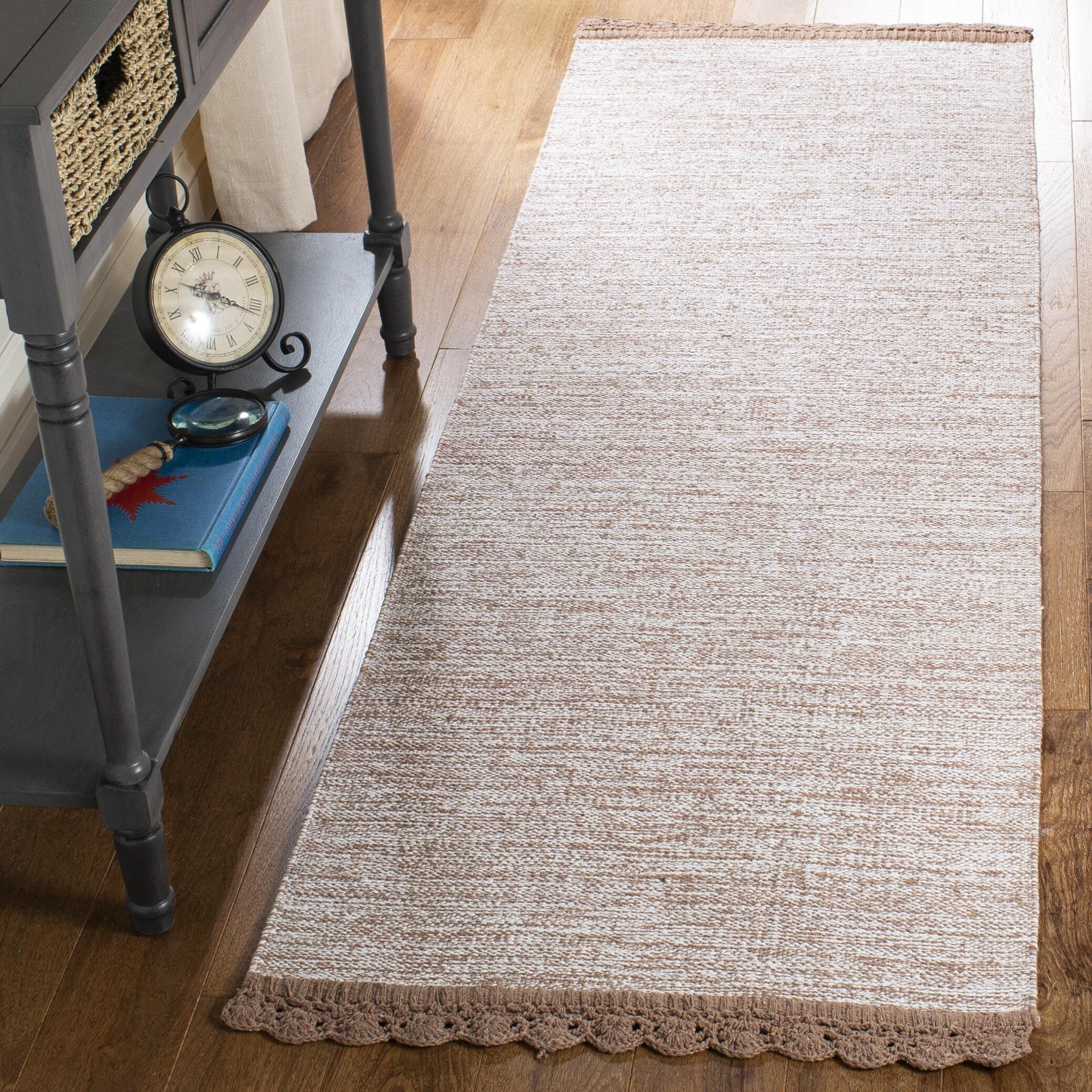 Mohnton Hand-Woven Brown/Gray Area Rug Rug Size: Runner 2'3