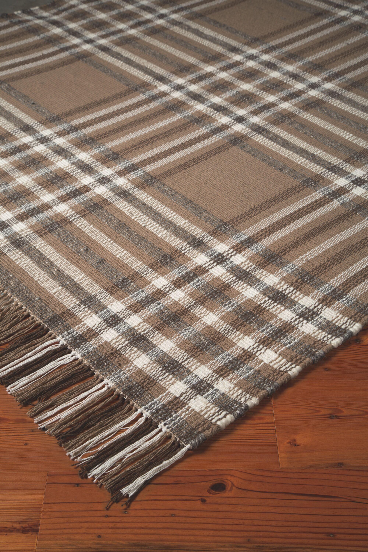 Emilee Hardy Hand Woven Wool Beige/Brown Area Rug Rug Size: 8' x 10'